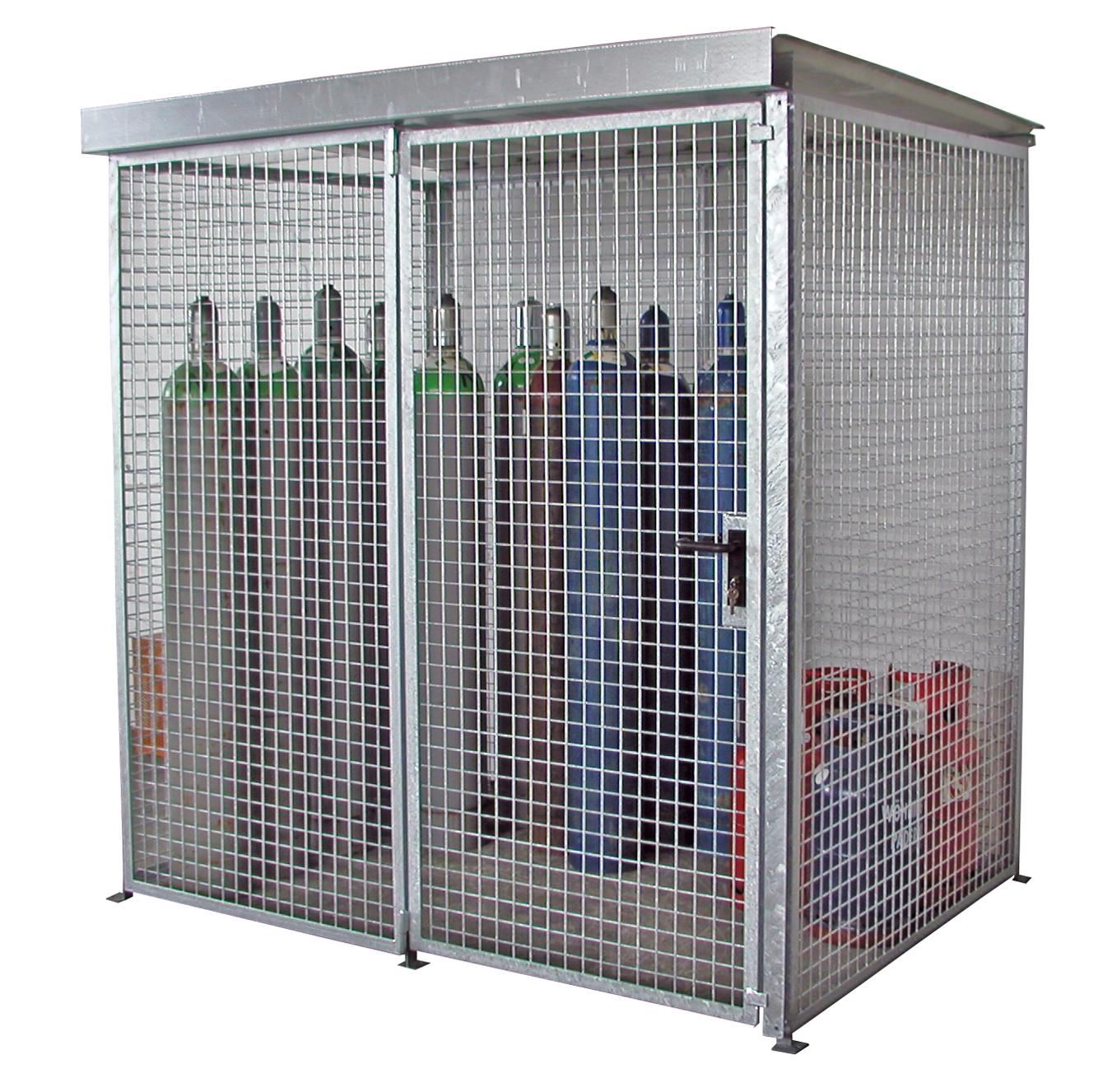 Gasflessencontainer met enkele deur