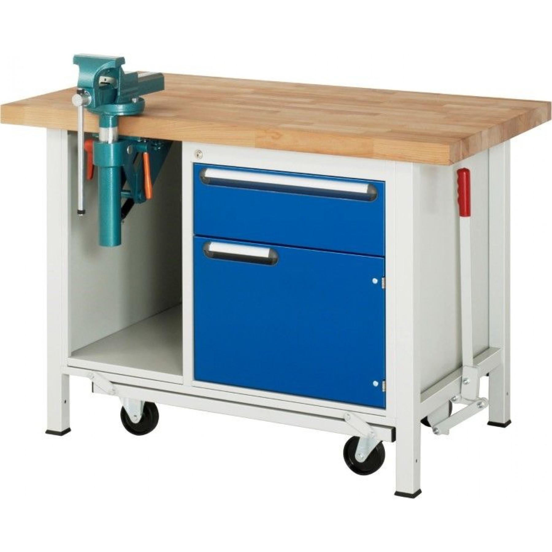 Verrijdbare werkbank 1250x700x840 mm, 05.249.B40.12AF.11
