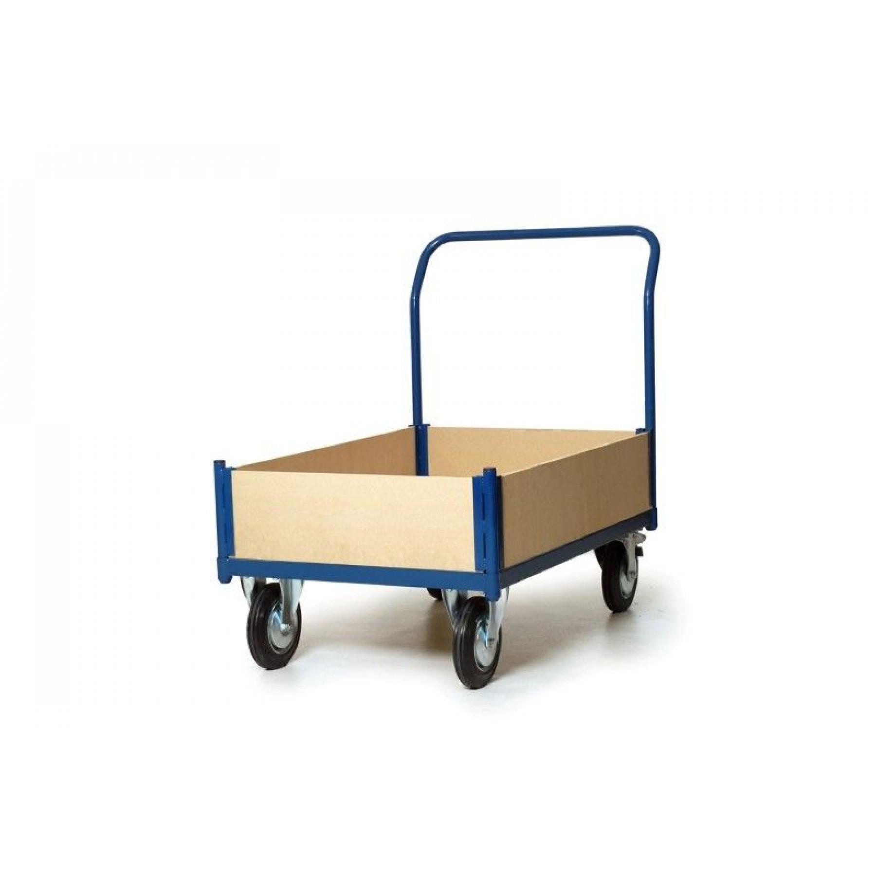 Houten bakwagen met houten laadvloer