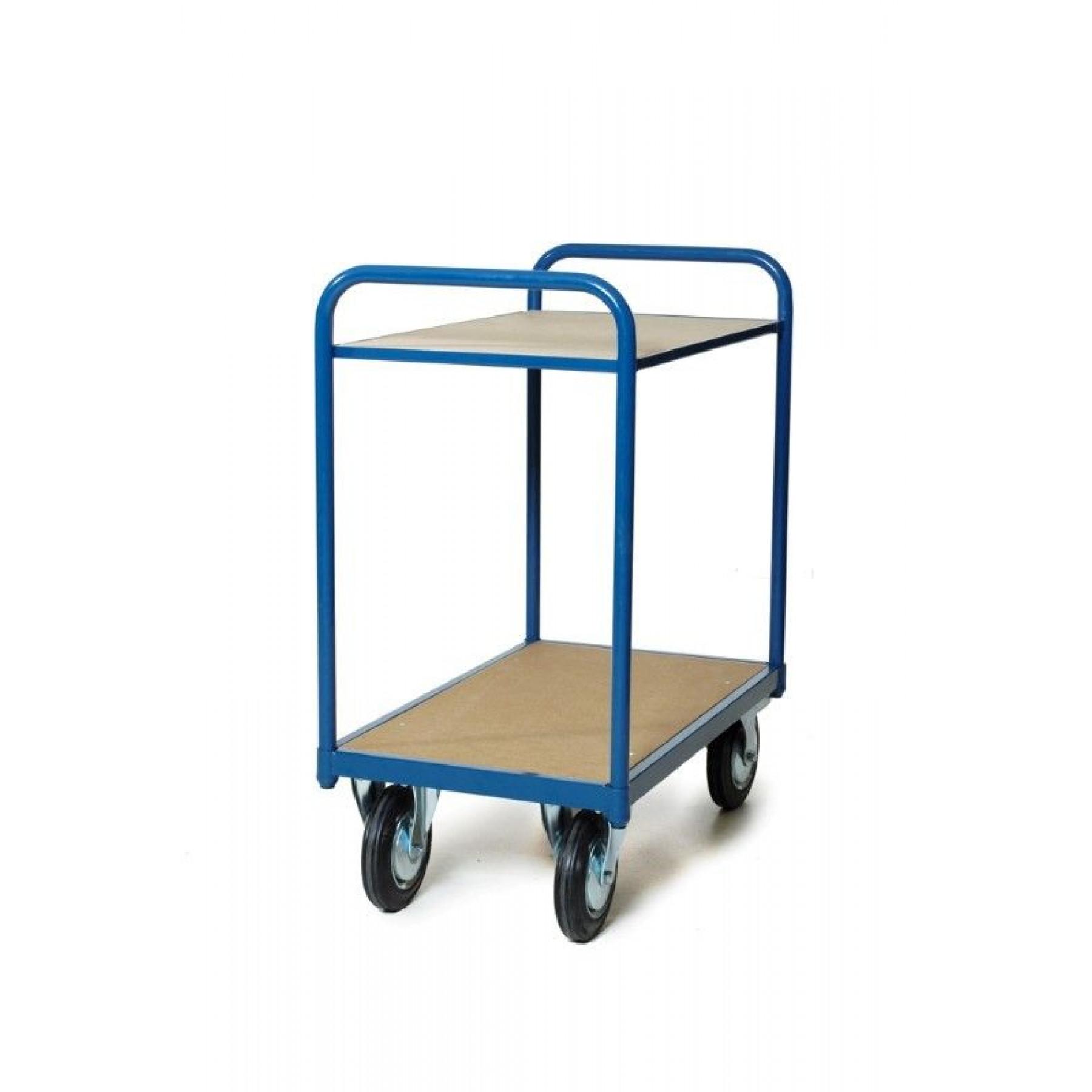 Tafelwagen 850x500 mm met 2 niveaus, 202.002