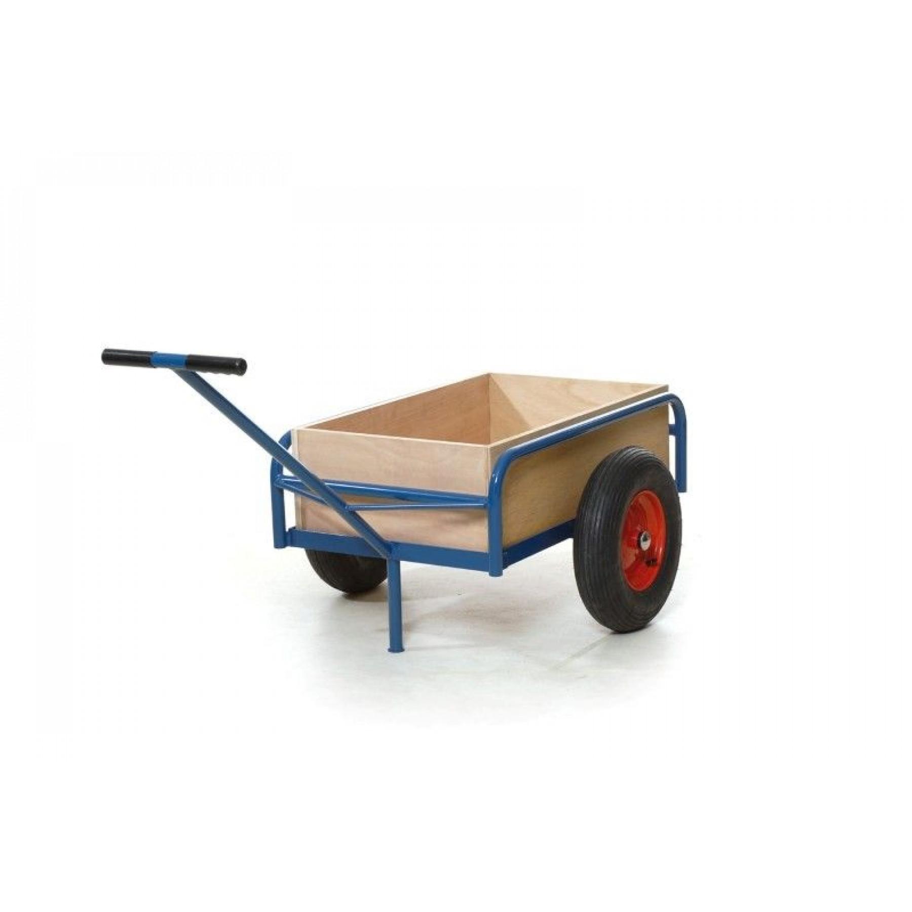 Handwagen 1500x600 mm met uitneembare houten bak, 204.037