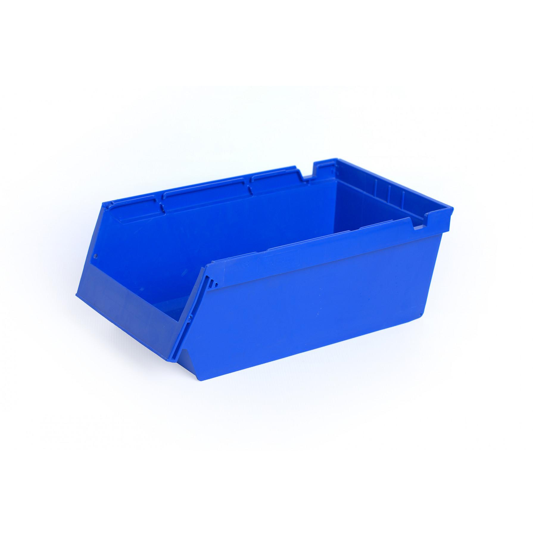 Nestbare- en stapelbare stellingbak 400x230x150mm, kleur blauw