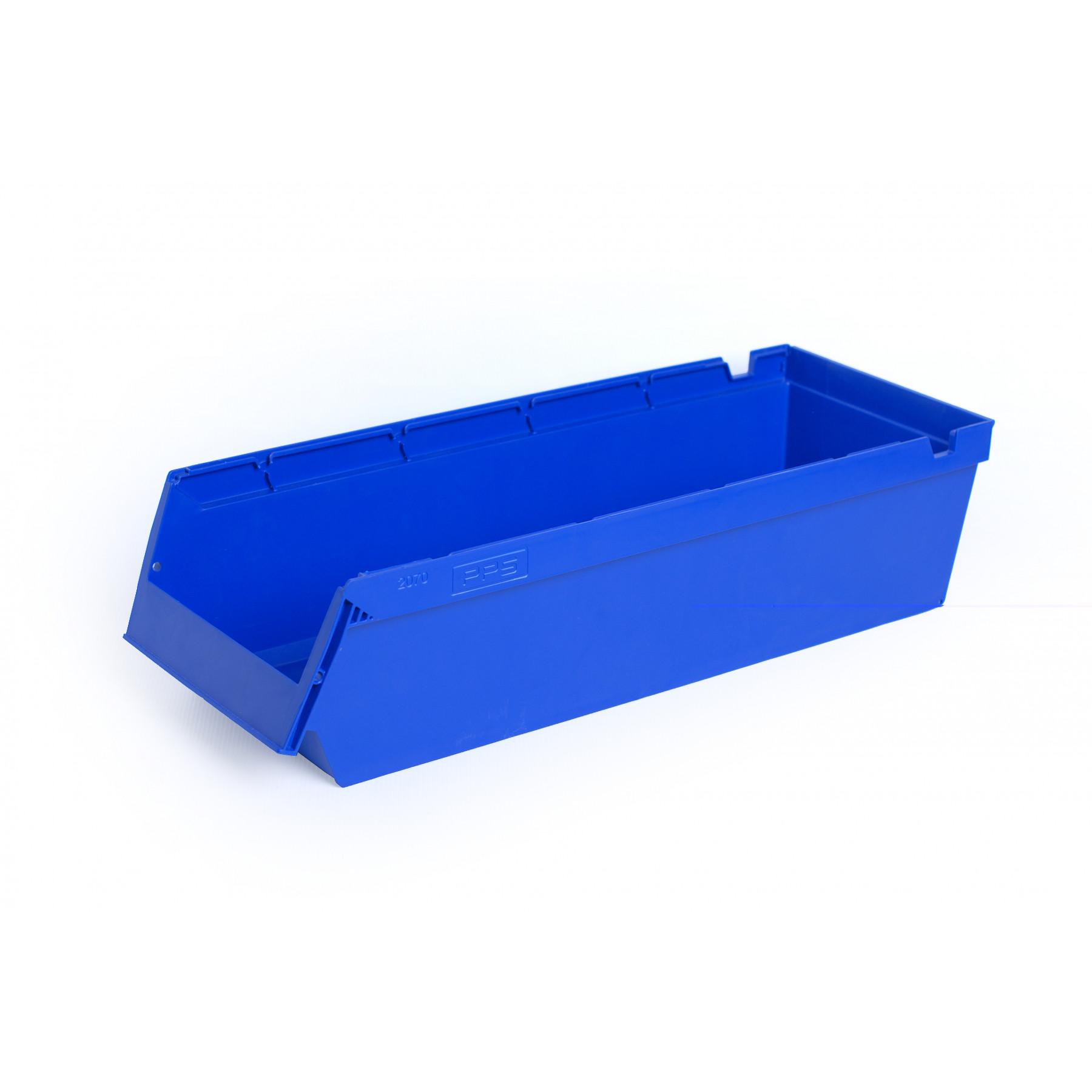 Nestbare stellingbak 600x230x150mm, kleur blauw