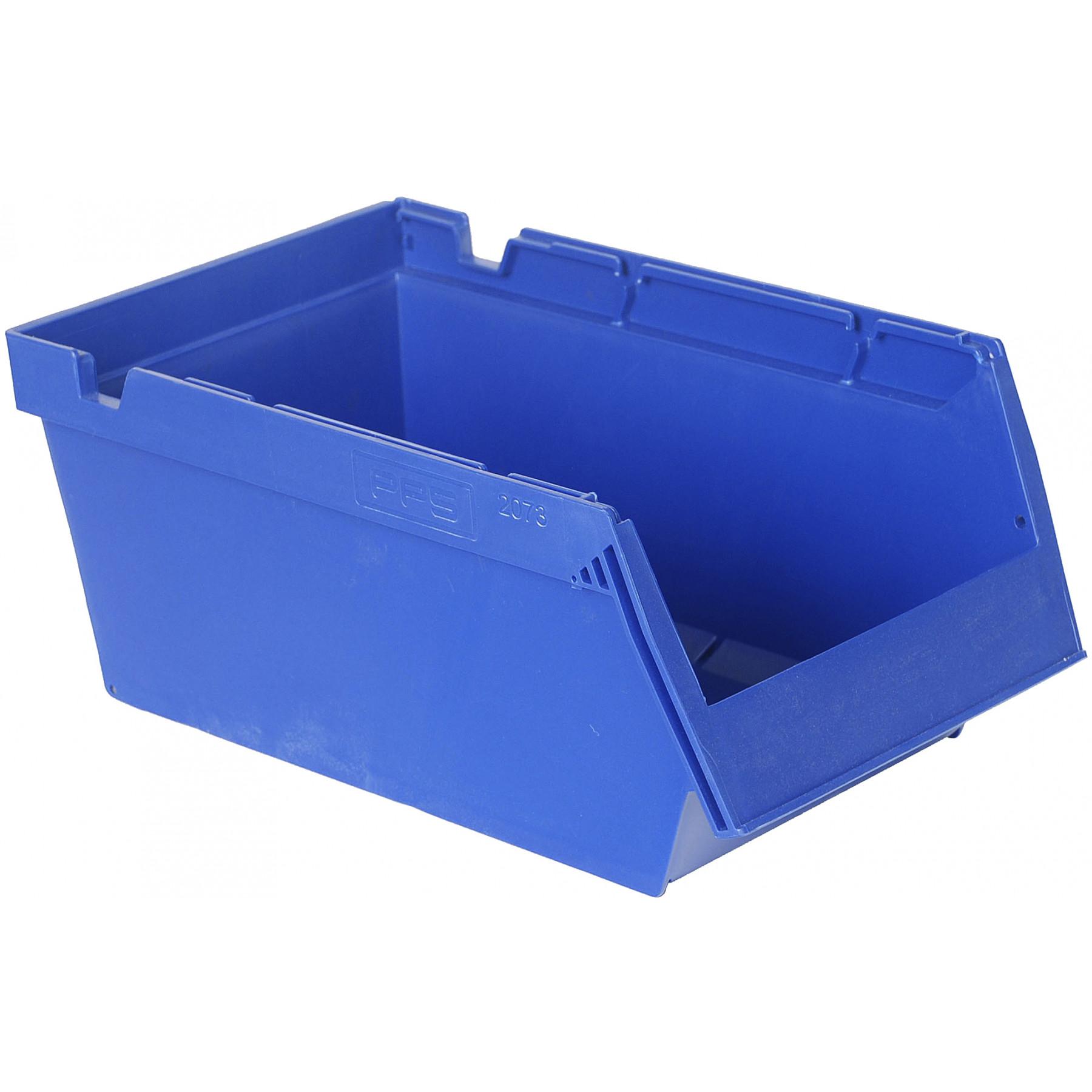 Nestbare magazijnbak 350x206x150mm, kleur blauw