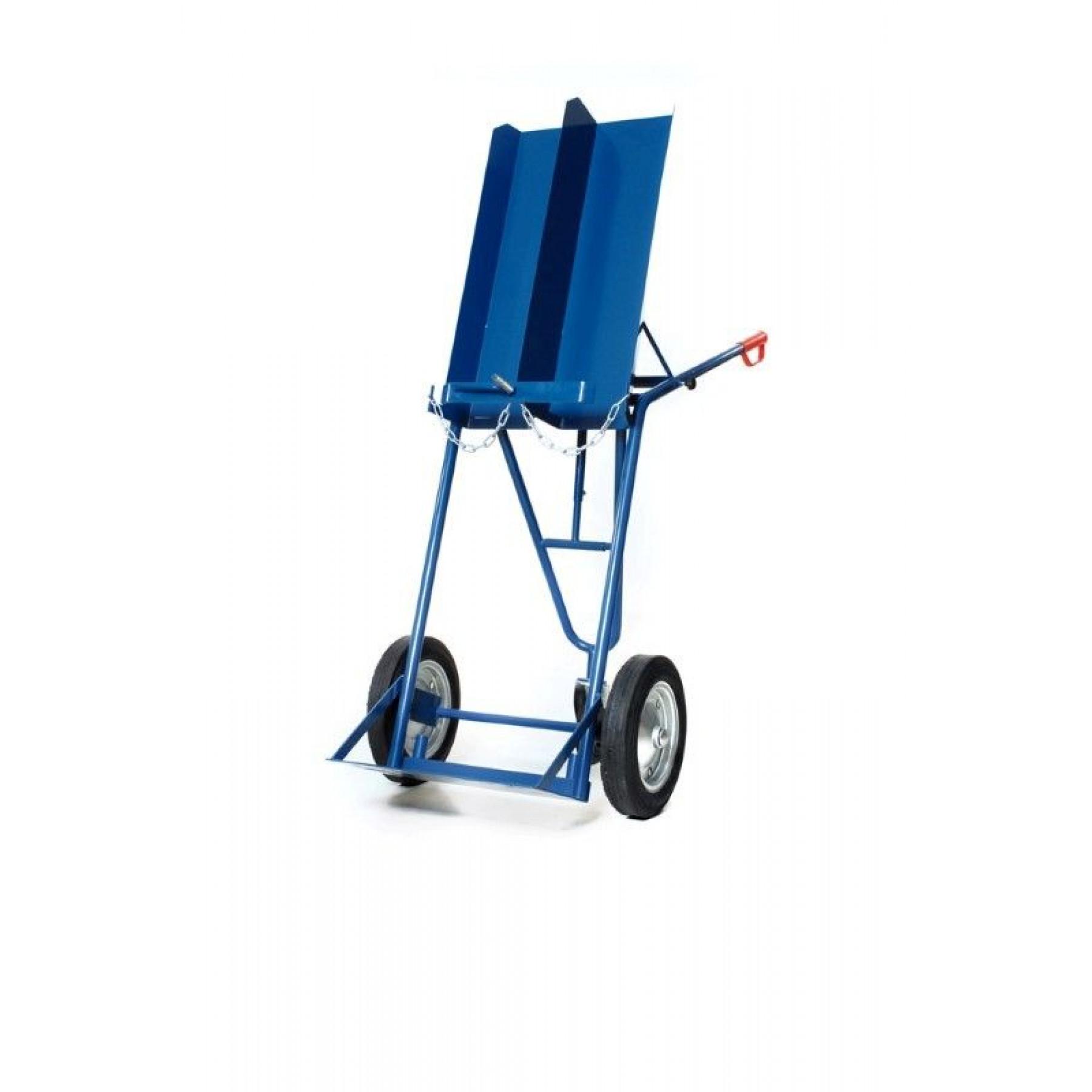 Flessenwagen voor 2 x 40/50 liter flessen met steunwiel