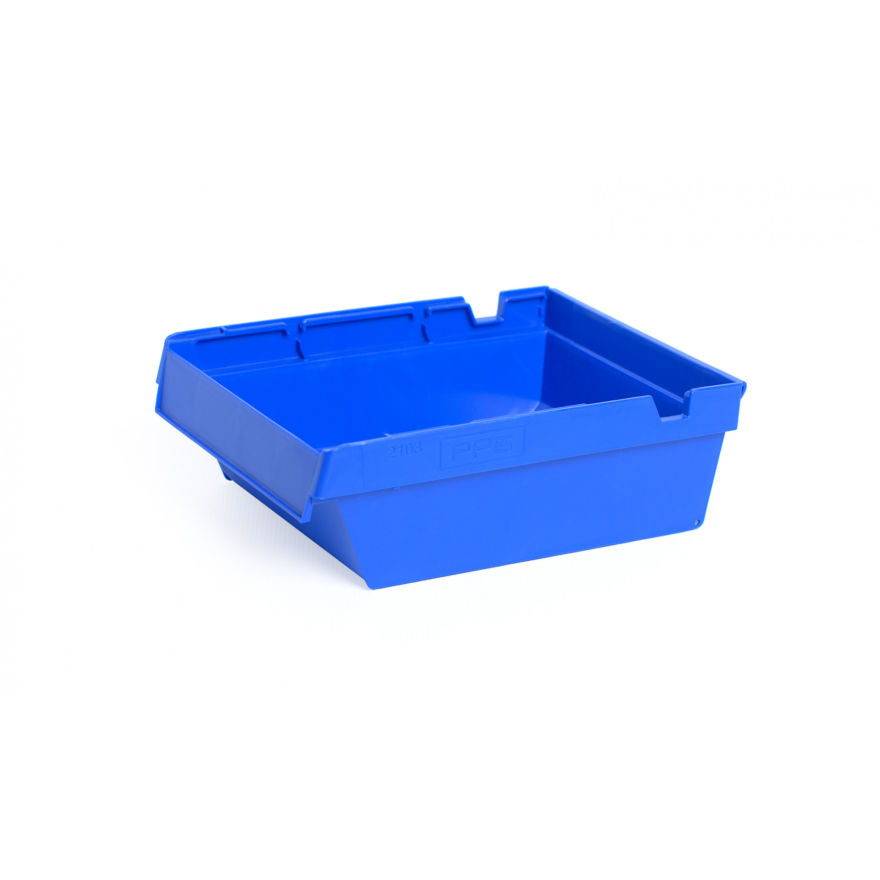 Nestbare onderdeelbak 300x230x100mm, kleur blauw