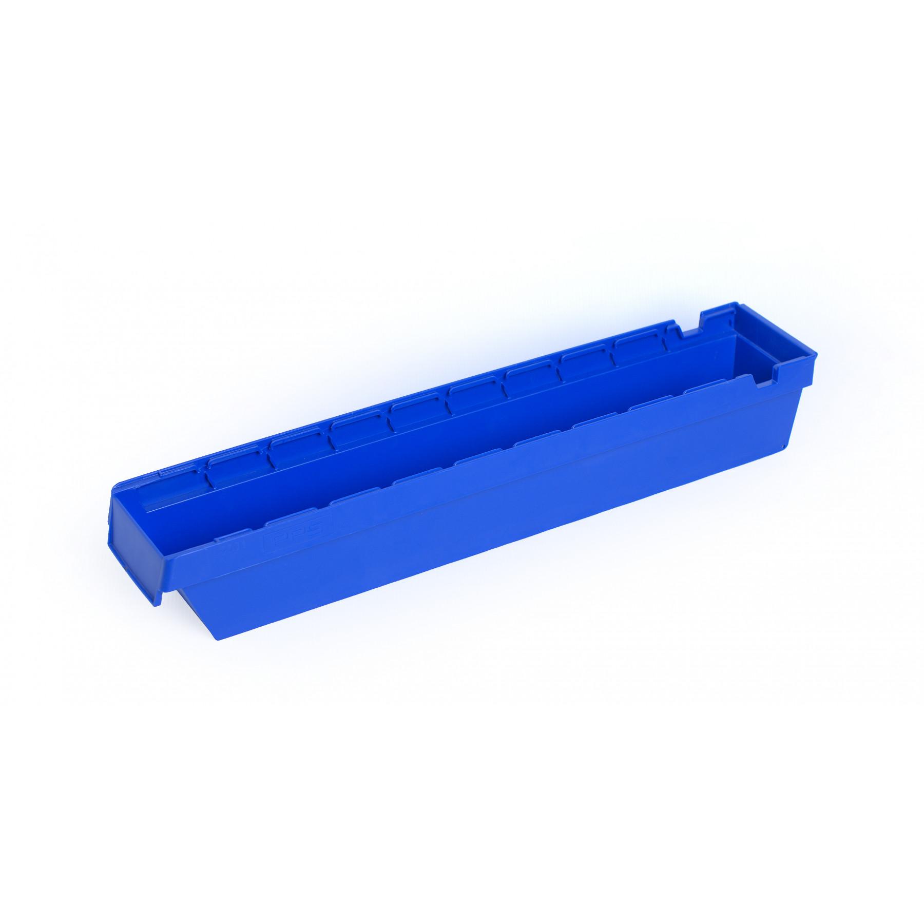 Nestbare onderdeelbak 600x115x100mm, kleur blauw