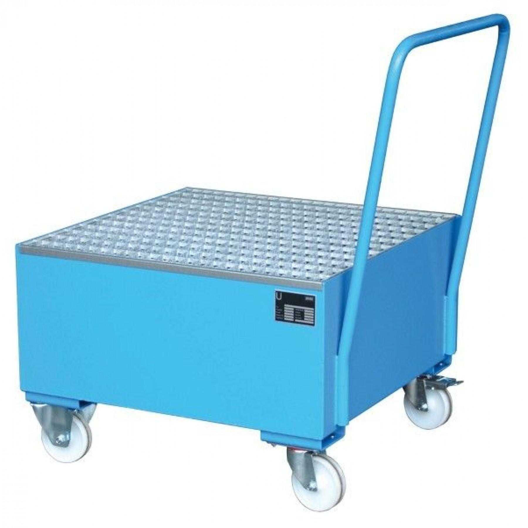 Verrijdbare vloeistofopvangbak 1 x 200 liter vat, 70049-2005