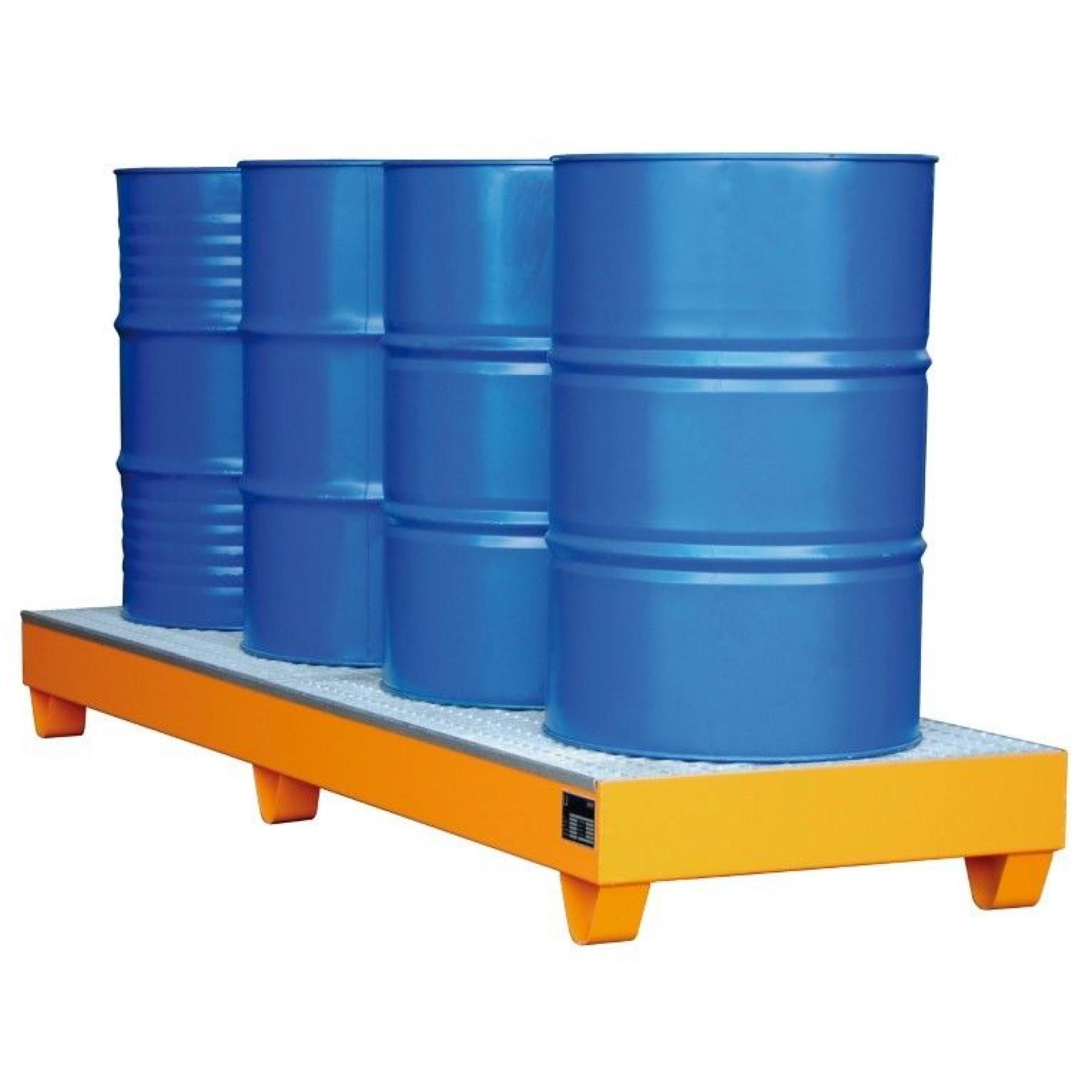 Vloeistofopvangbak voor 4 x 200 liter vat, 70049-2042-2000