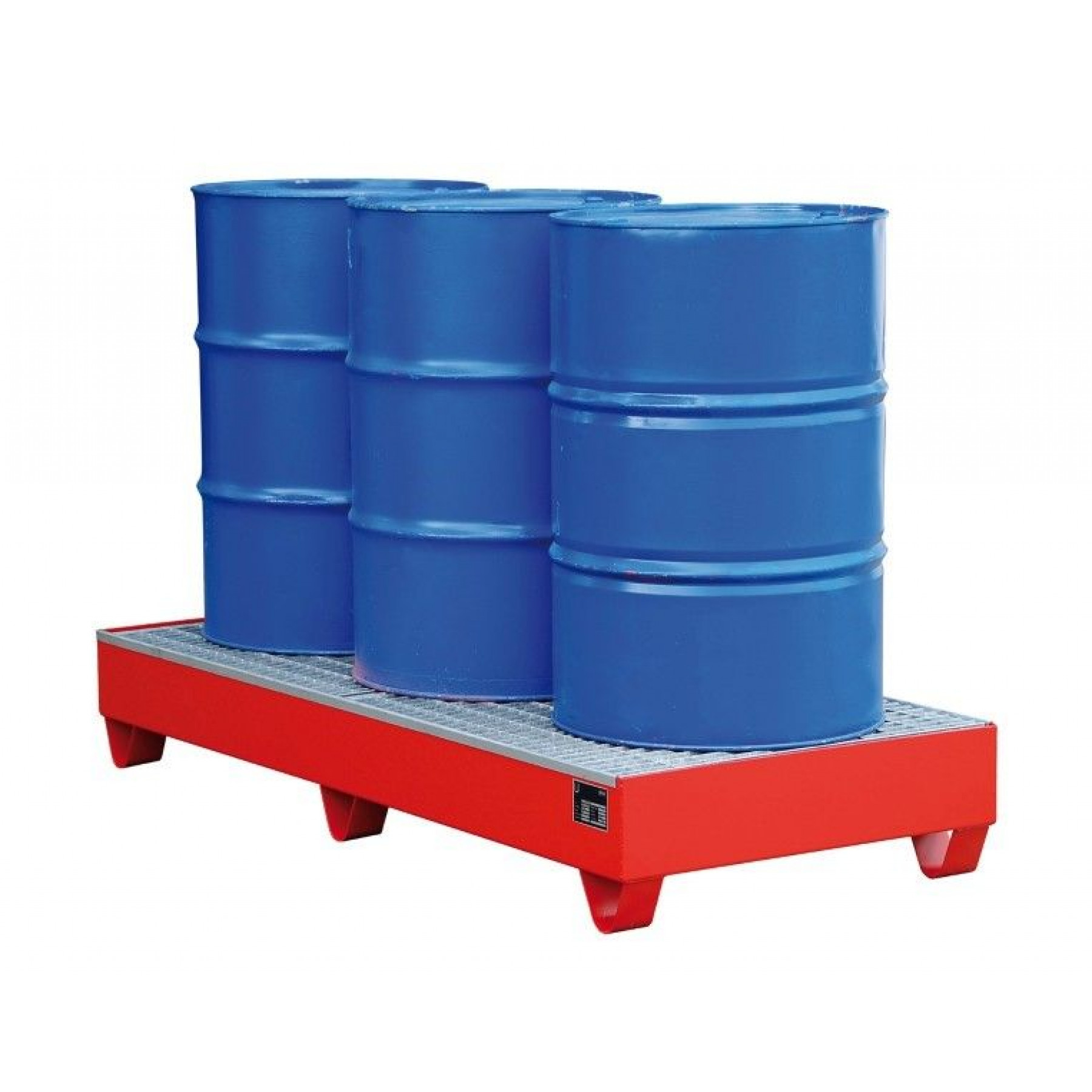 Vloeistofopvangbak voor 3 x 200 liter vat