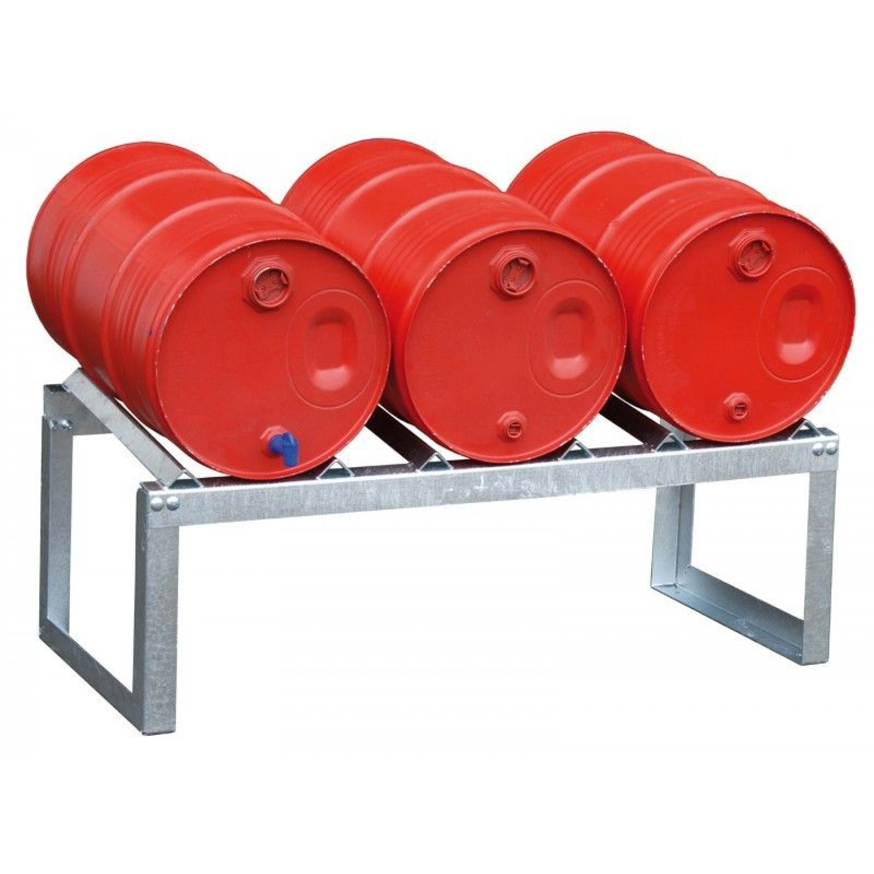 Vatenrek t.b.v. 3 x 60 liter vaten, verzinkt, 70049-FA60-3