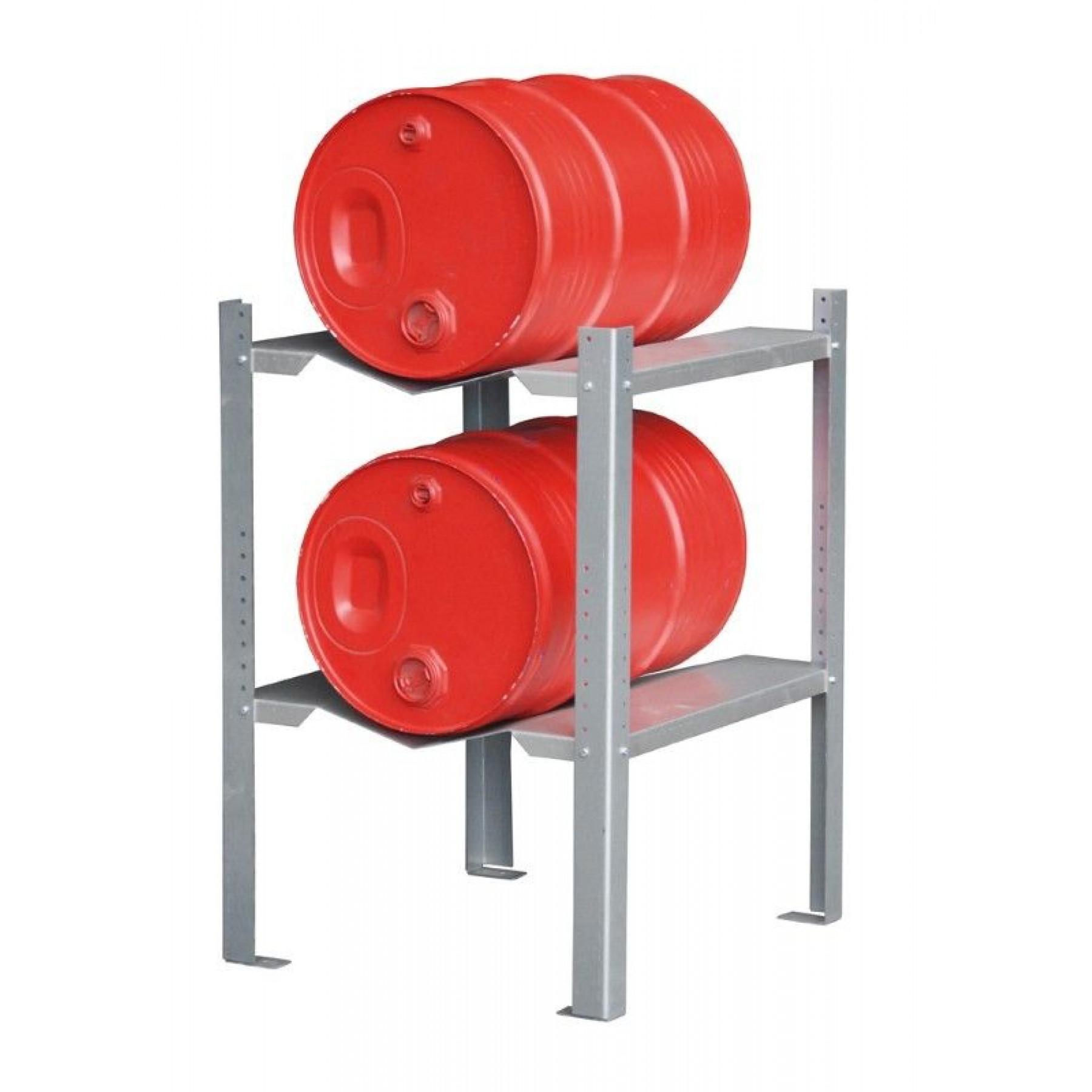 Blikkenrek met 2 x vatenrek voor 1 x 60 liter vat, 70049-GR-C
