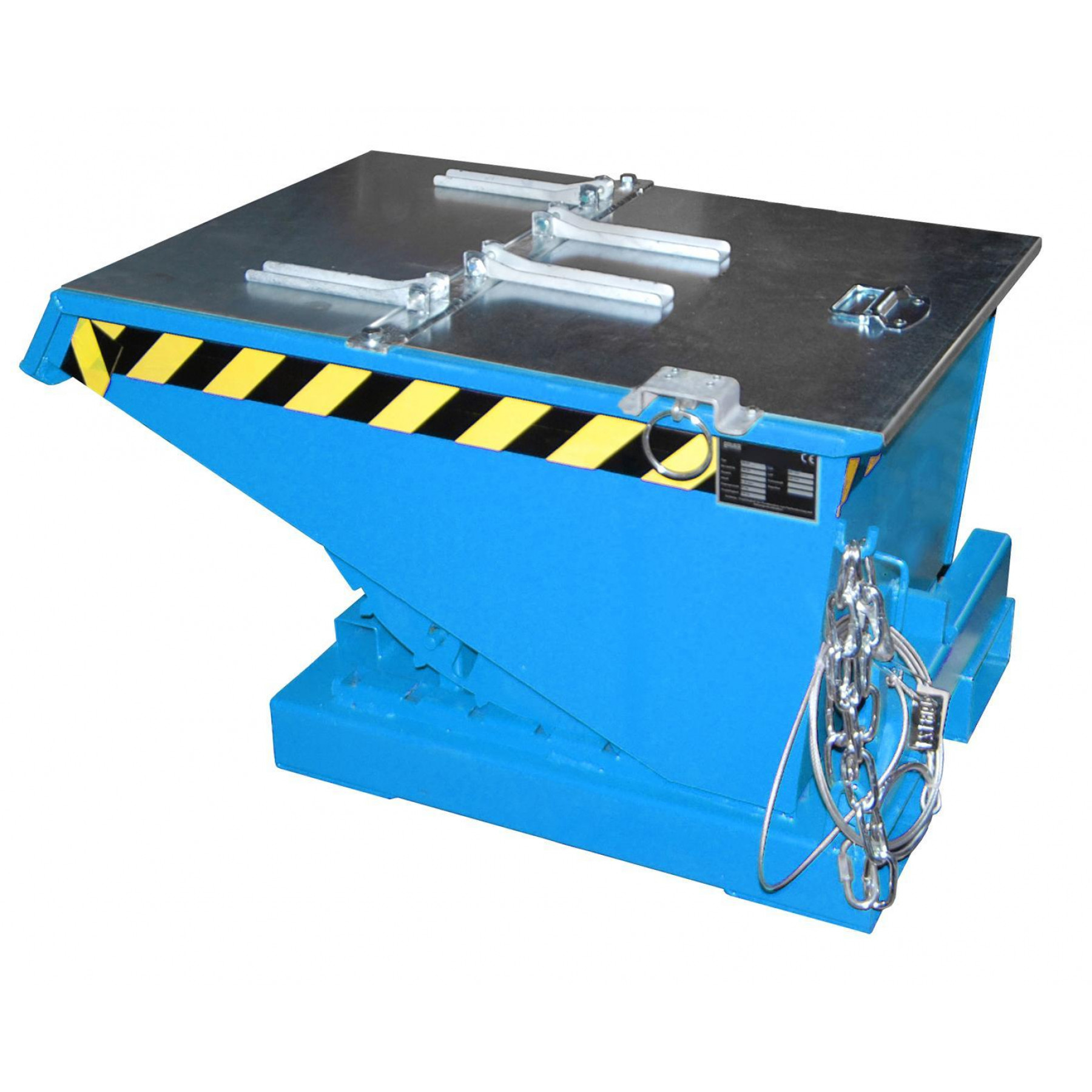 Verzinkt deksel t.b.v. kiepcontainer 150 liter, MTF-150-DEKSEL