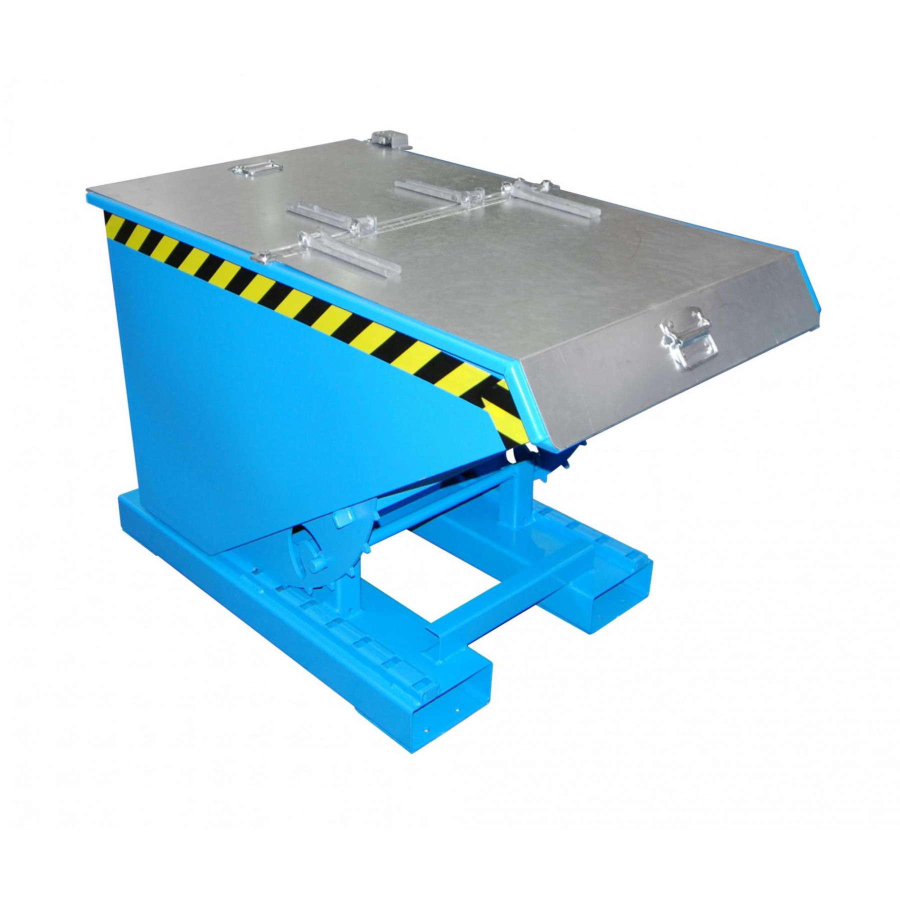 Verzinkt deksel t.b.v. kiepcontainer 300 liter, MTF-300-DEKSEL