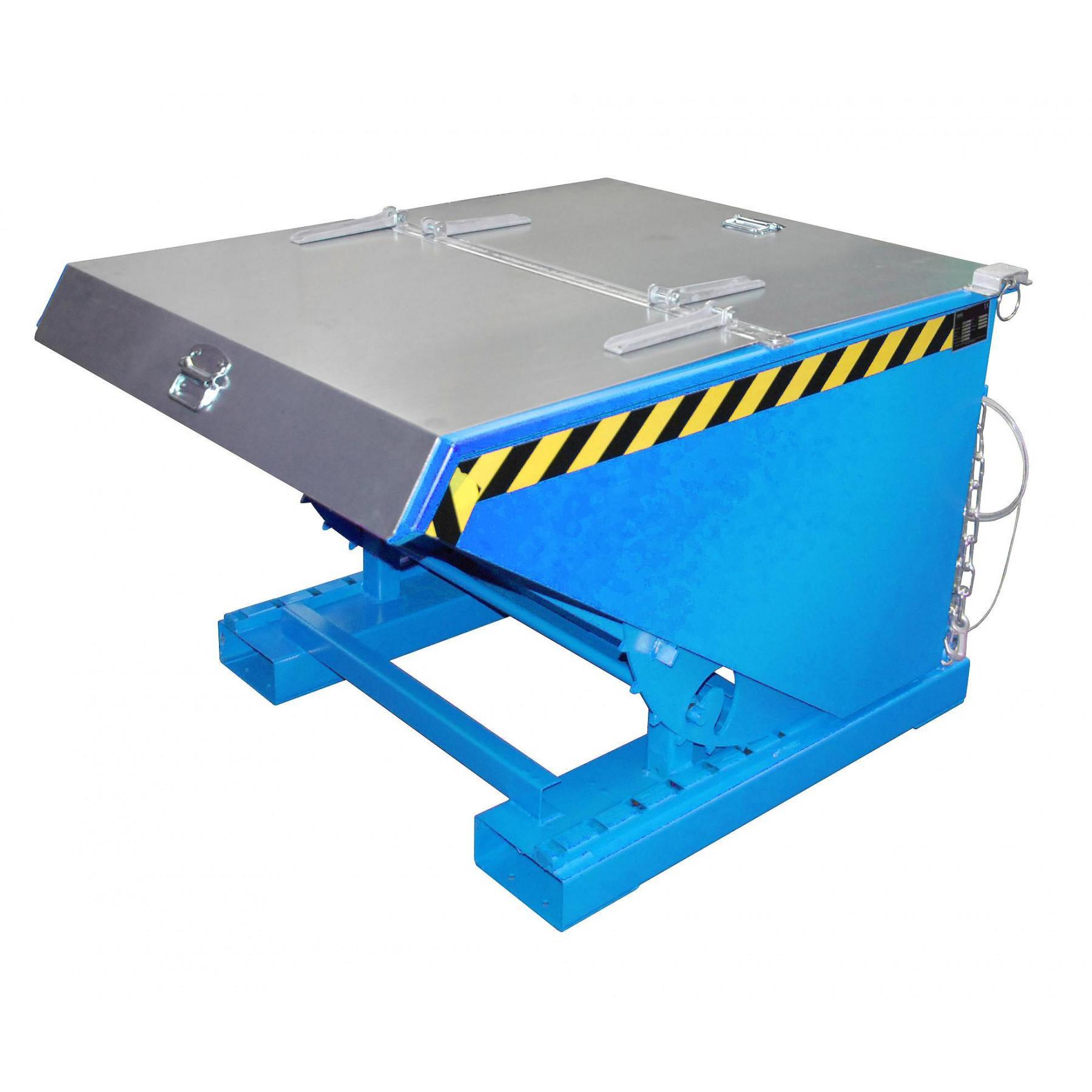 Verzinkt deksel t.b.v. kiepcontainer 600 liter, MTF-600-DEKSEL