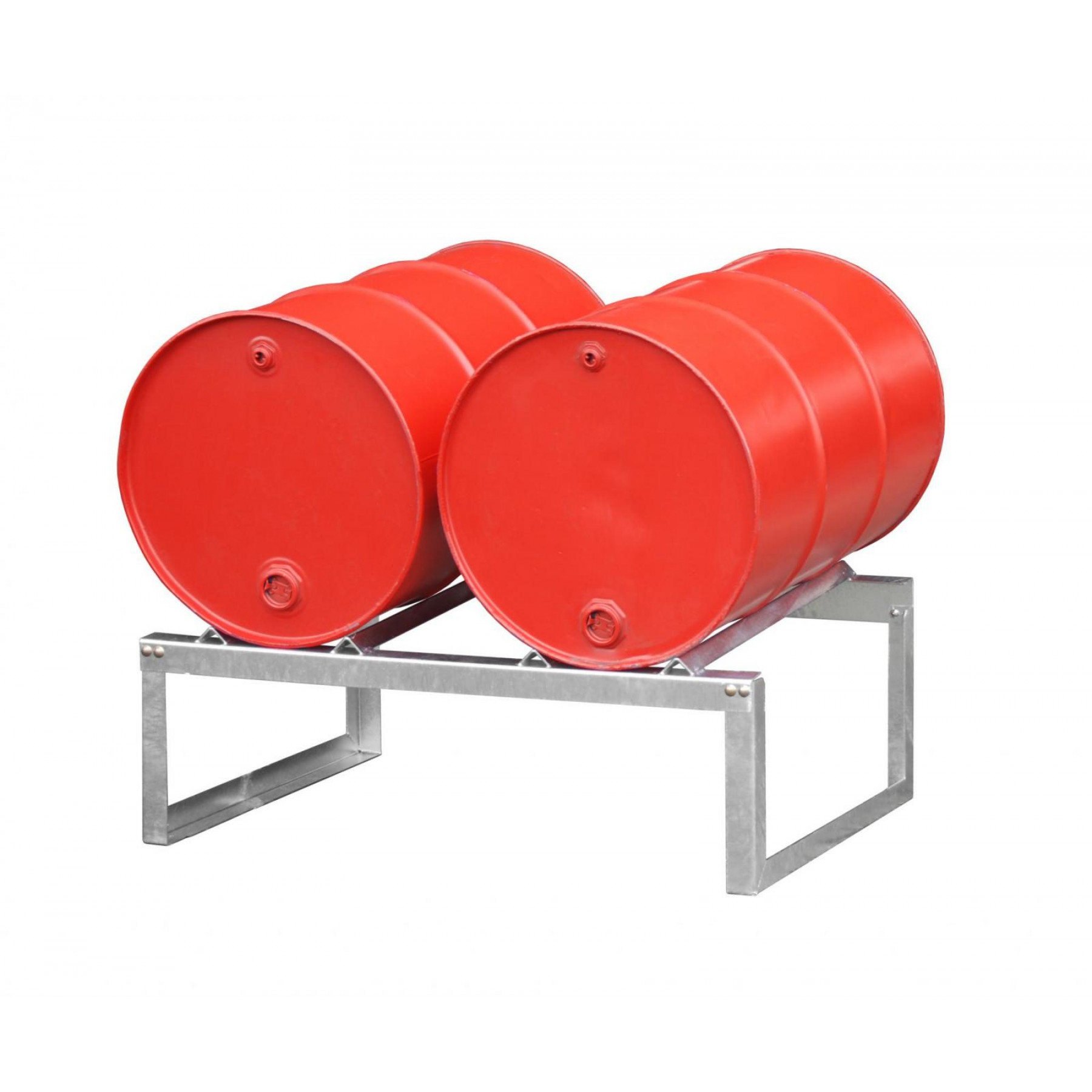 Vatenrek t.b.v. 2 x 200 liter vaten, verzinkt, 70049-FA200-2
