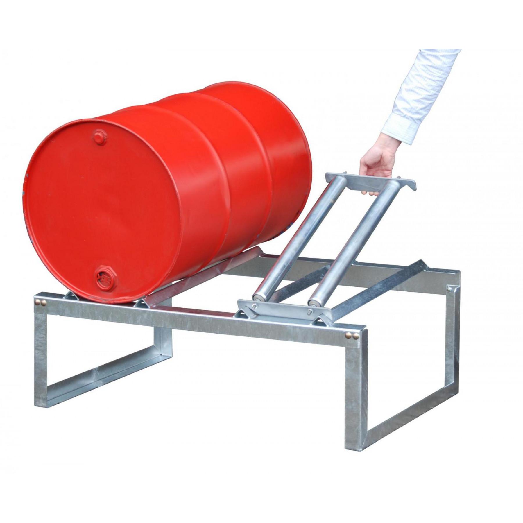 Draaisteun voor vatenrek t.b.v. 1 x 200 liter vat, 70049-RA200