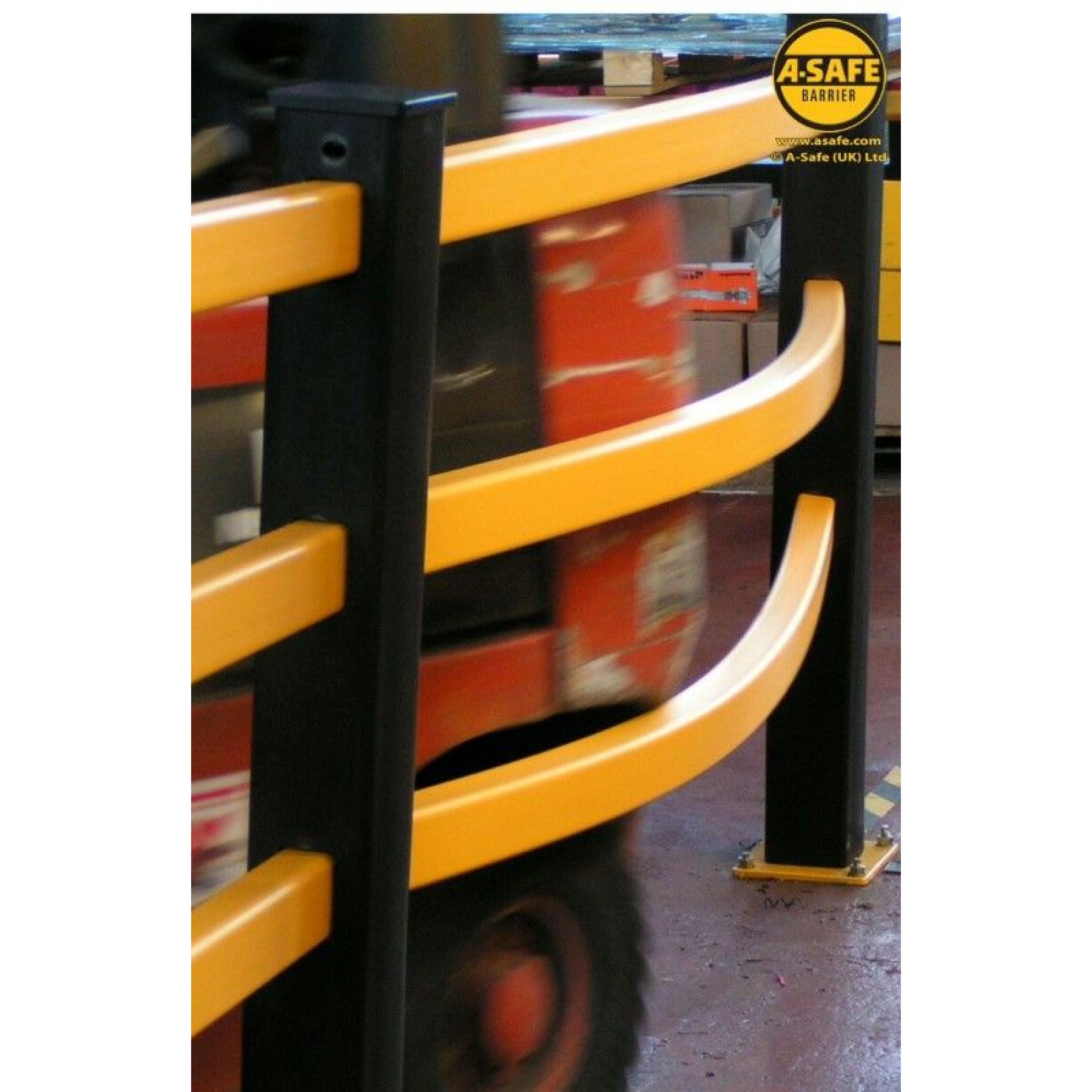 A-Safe staander voor veiligheidshekwerk