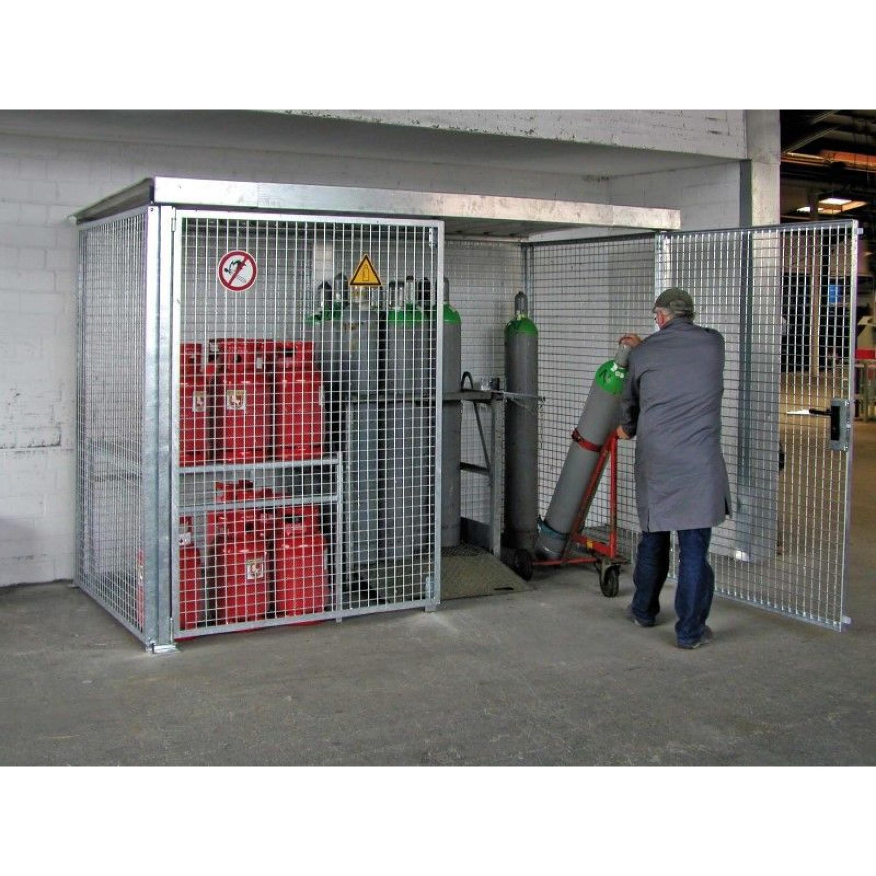 Gasflessencontainer zonder dak voor 104 gasflessen, GFC-M5-DV