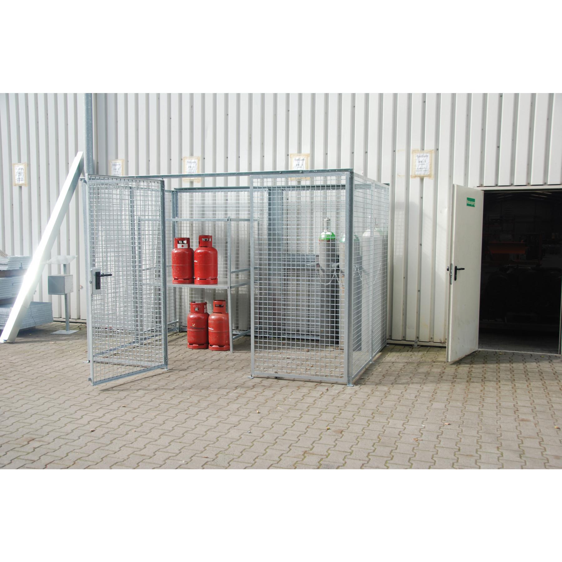 Gasflessencontainer zonder dak voor 60 gasflessen, GFC-M3