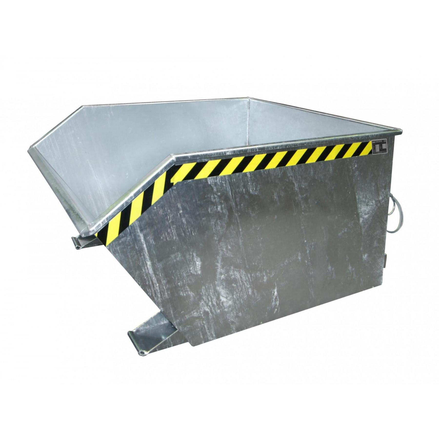 Kiepcontainer 1000 liter, laag model, MTFL-1000-V