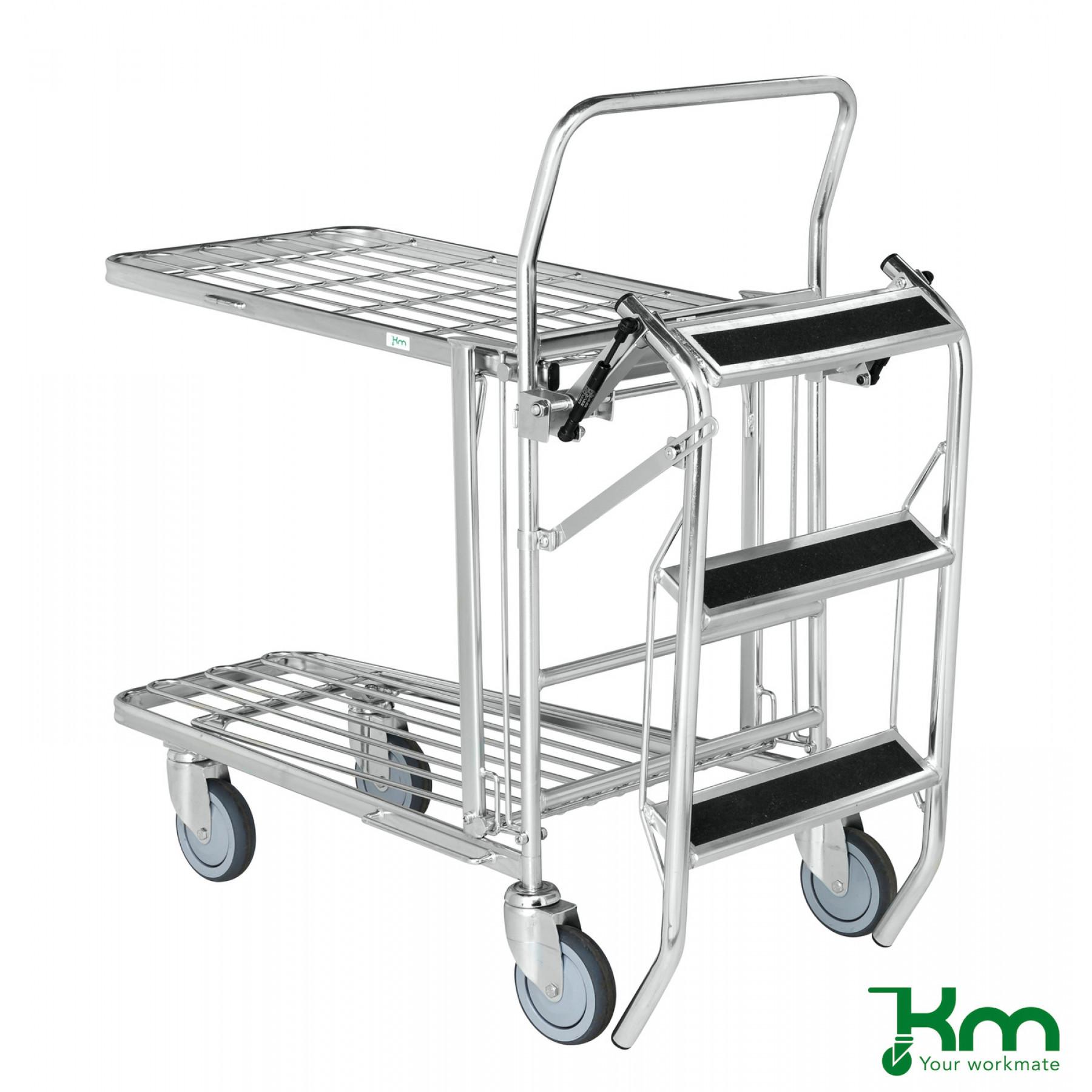 Verzinkte trap voor winkelwagens, KM 07401-4202