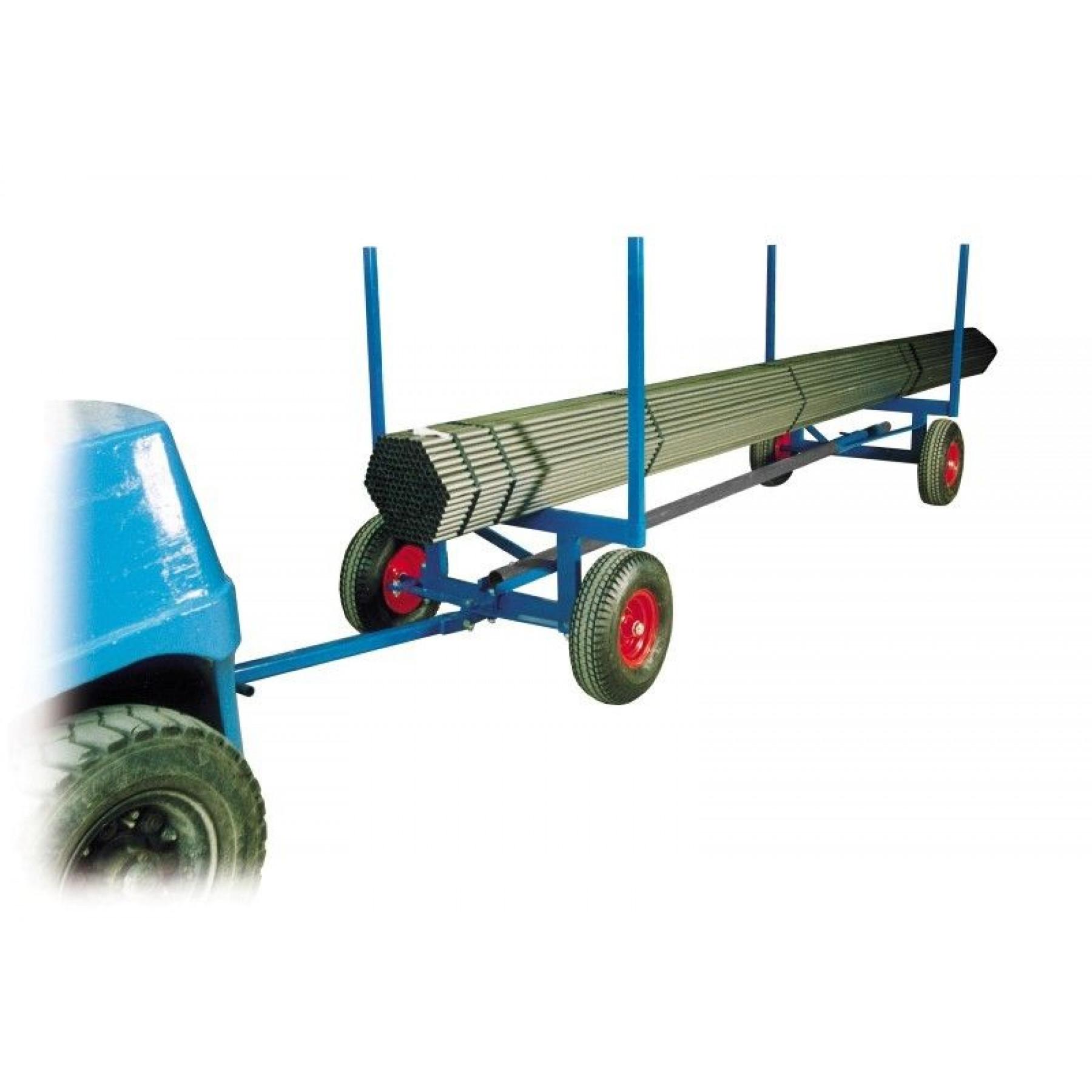 Langmateriaalaanhanger 3500 kg op luchtbandwielen, KM 125