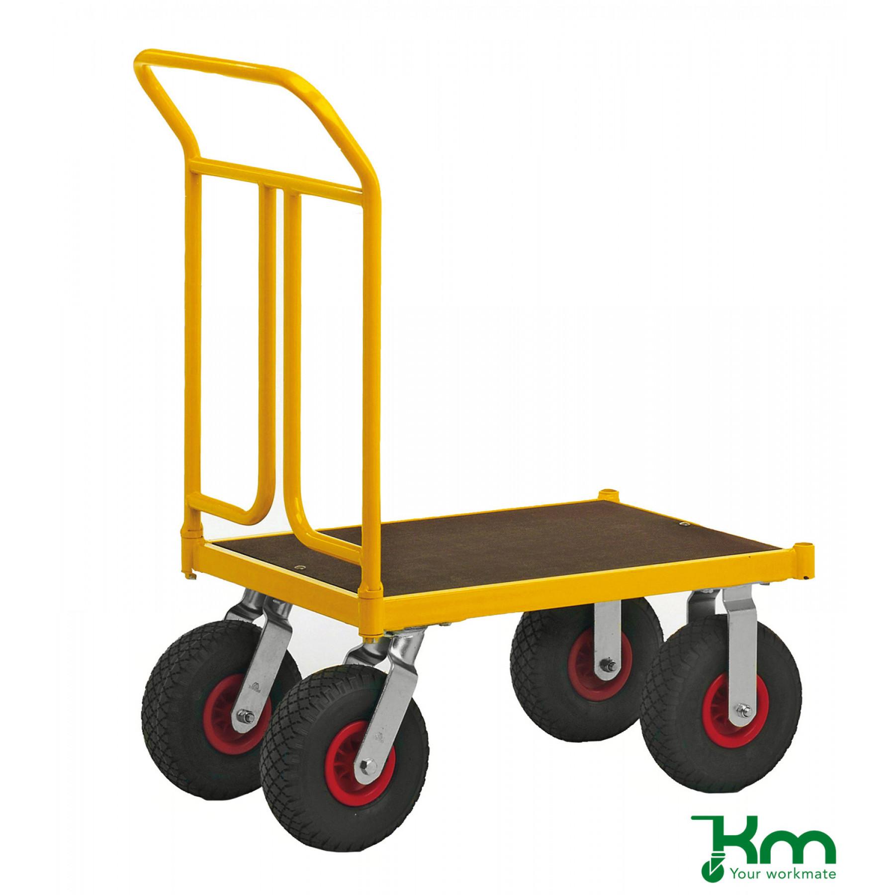 Duwwagen 750x500 mm op luchtbandwielen, KM 144450