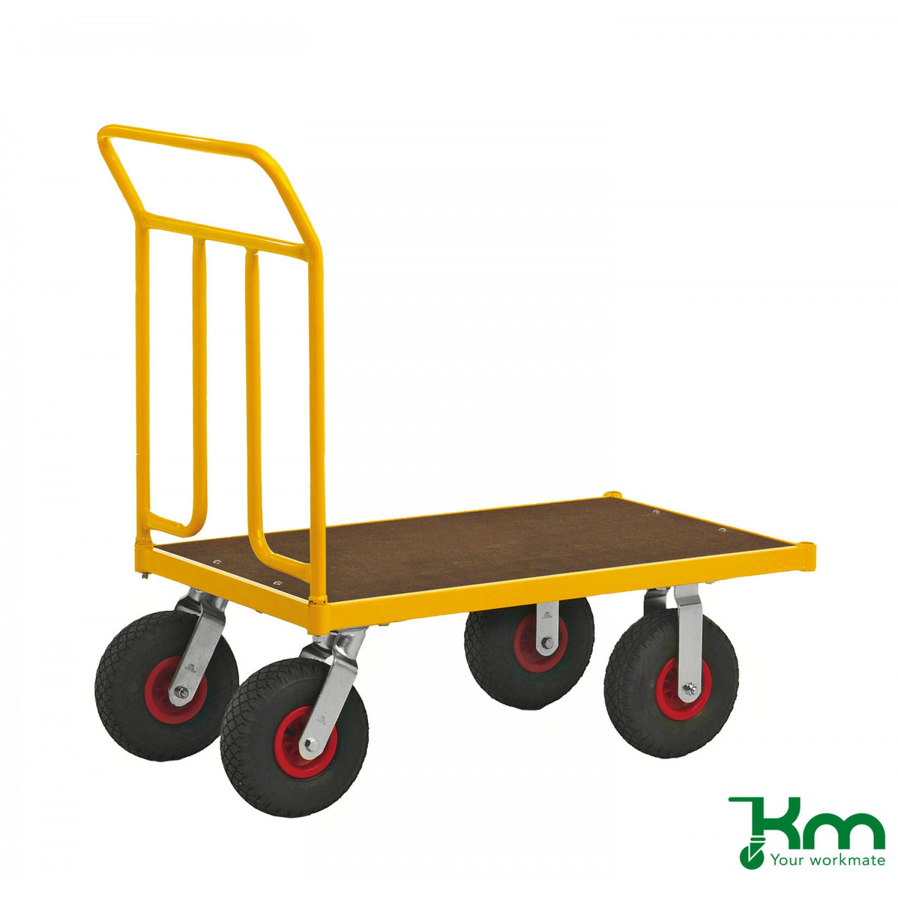 Duwwagen 1000x600 mm op luchtbandwielen, KM 144550