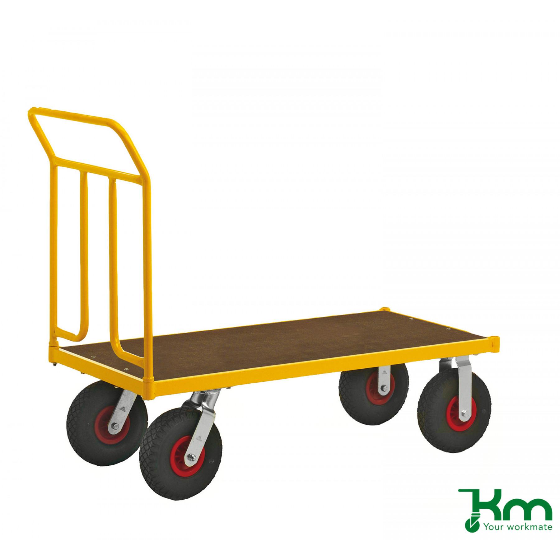 Duwwagen 1250x650 mm op luchtbandwielen, KM 144650