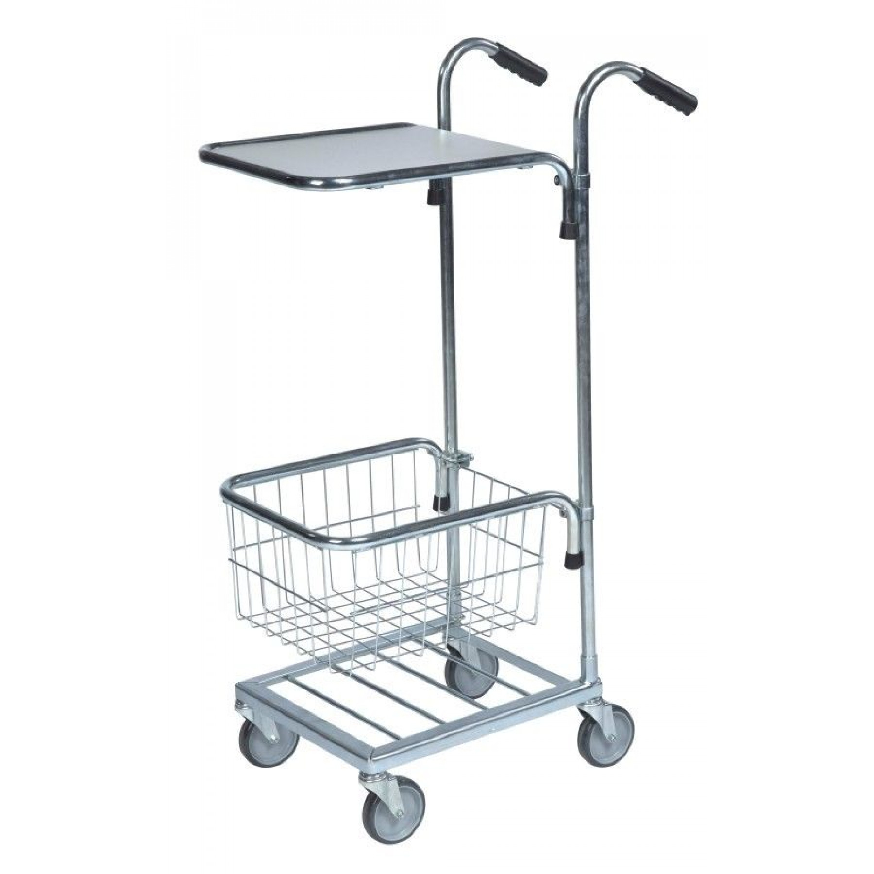 Mini trolley met 1 legbord en 1 draadmand, KM 153-HT