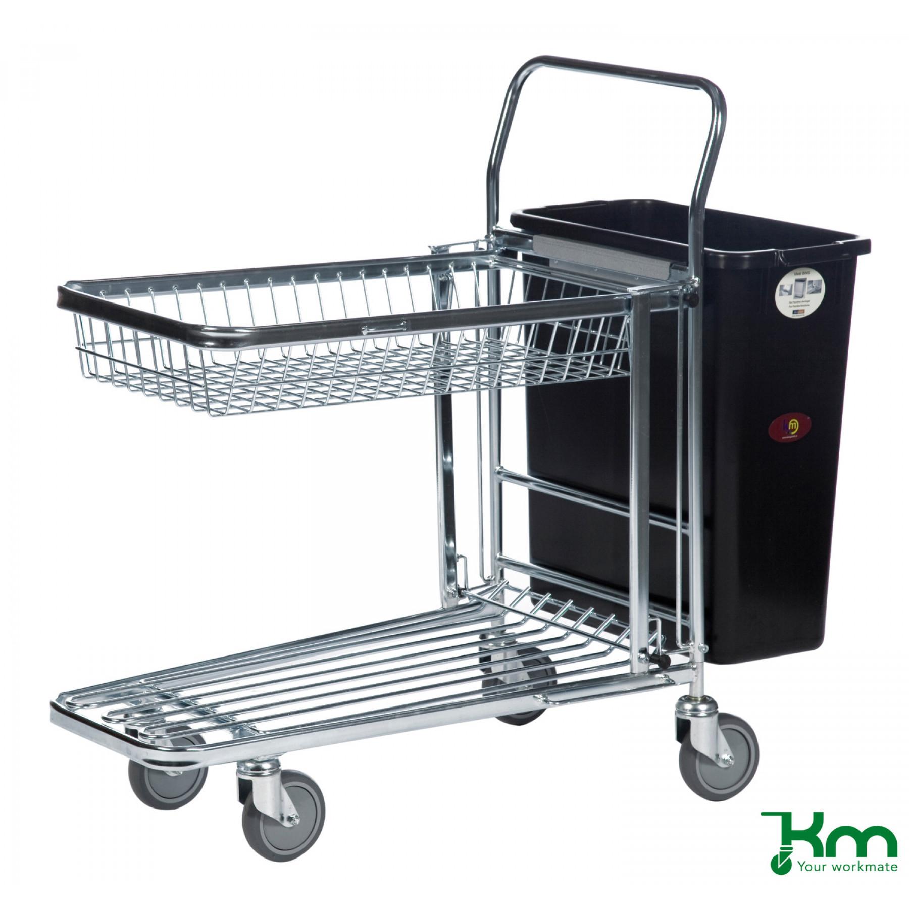 Kunststof afvalbak voor winkelwagens, KM 1800496221