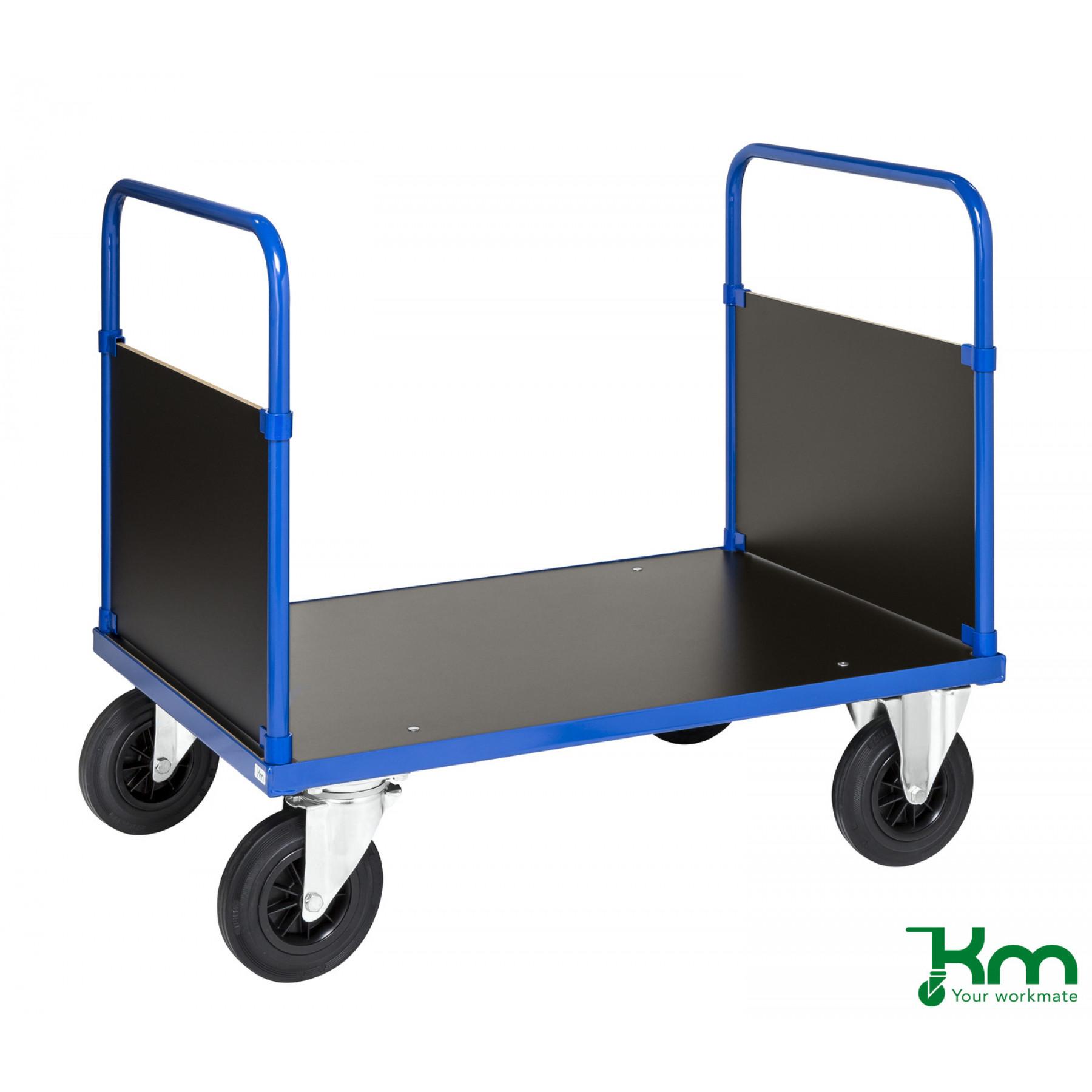 Dubbele kopwandwagen met MDF laadvloer en kopwanden