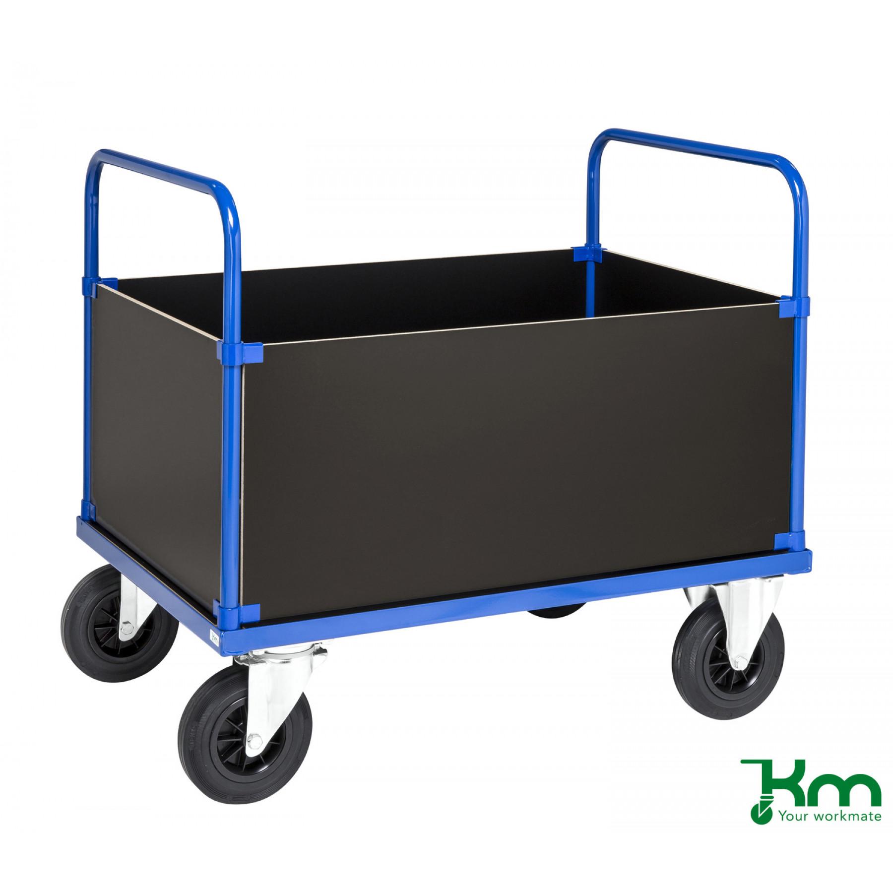 4-wandenwagen met MDF laadvloer