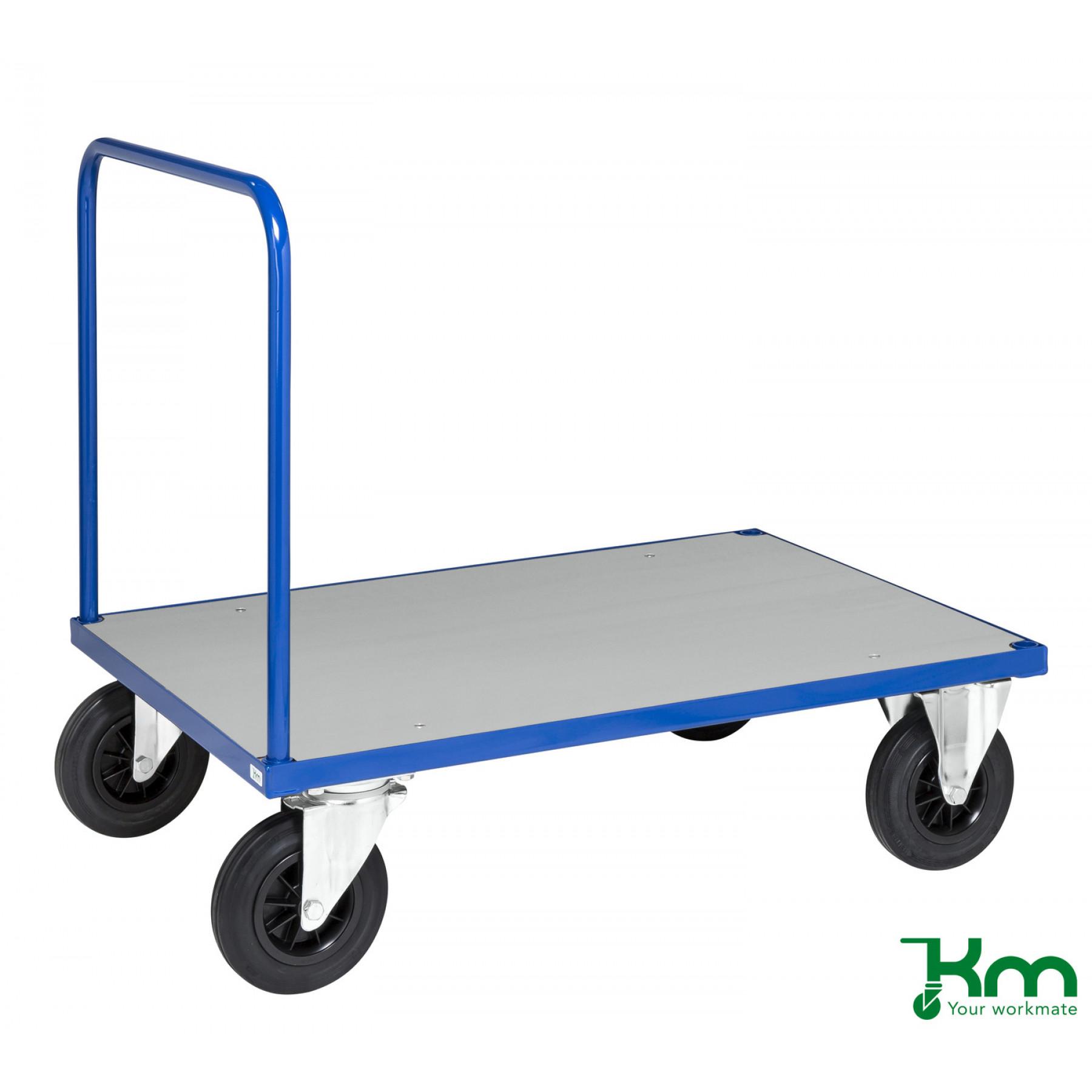 Duwwagen met staalverzinkte laadvloer