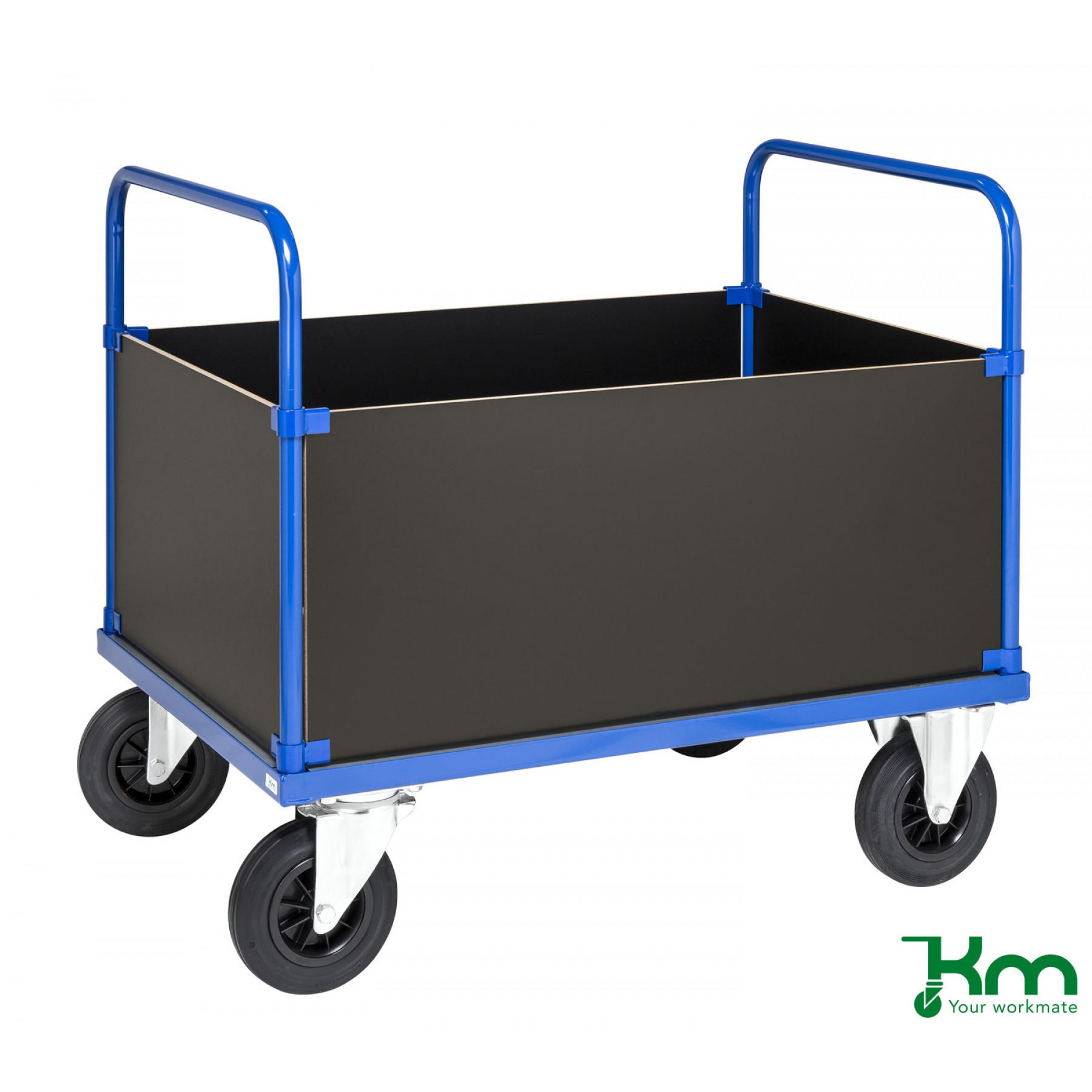 4-wandenwagen met staalverzinkte laadvloer
