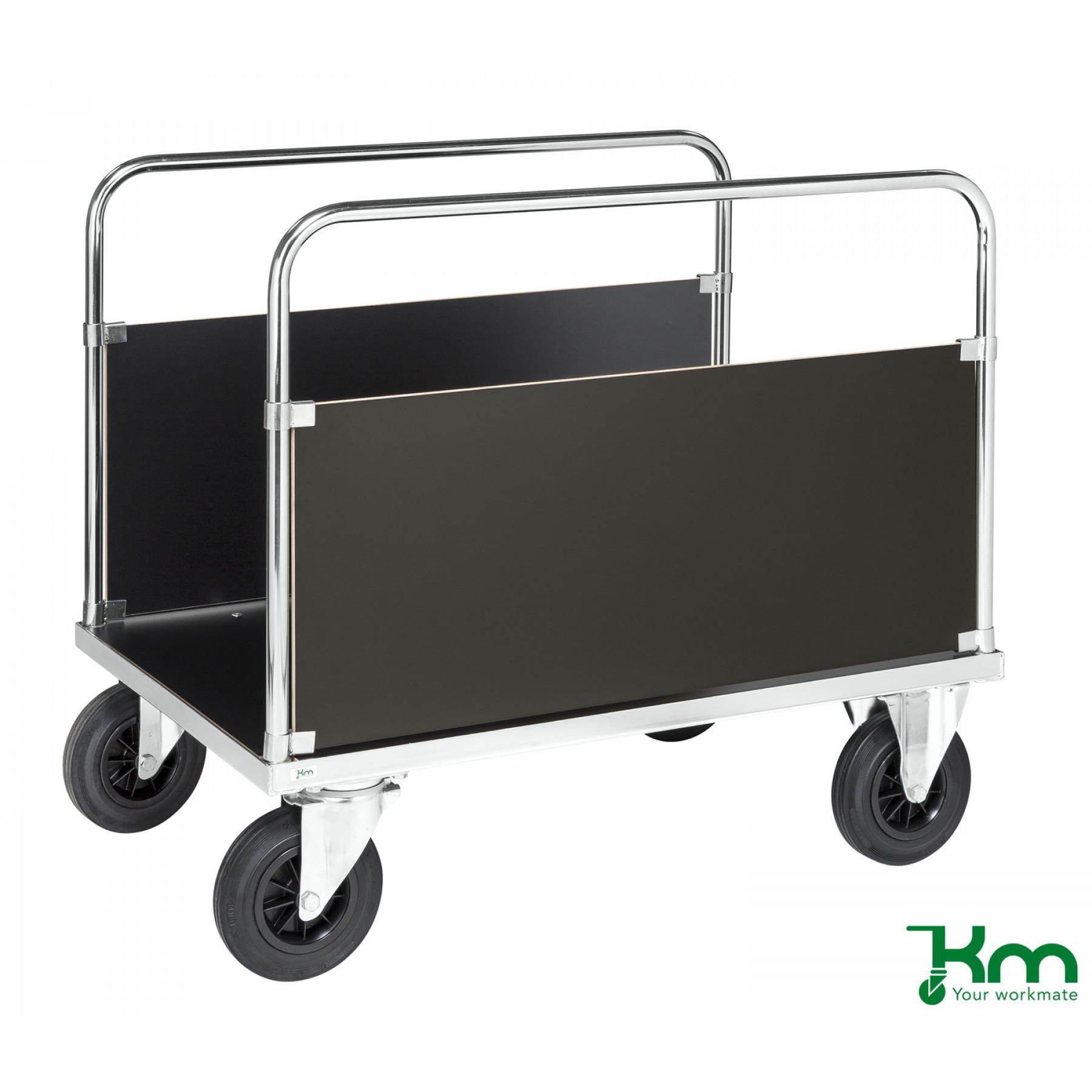 2-wandenwagen staalverzinkt met MDF laadvloer