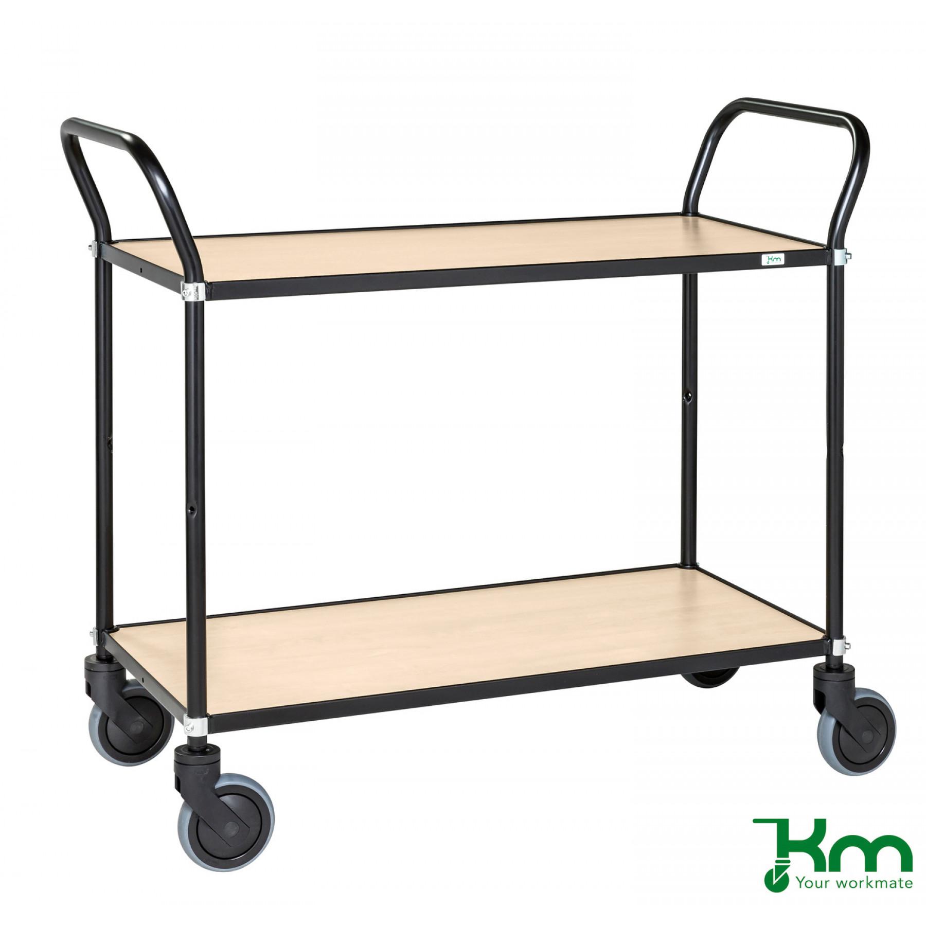 Design tafelwagen met berkenstructuur, KM 8112-BJ