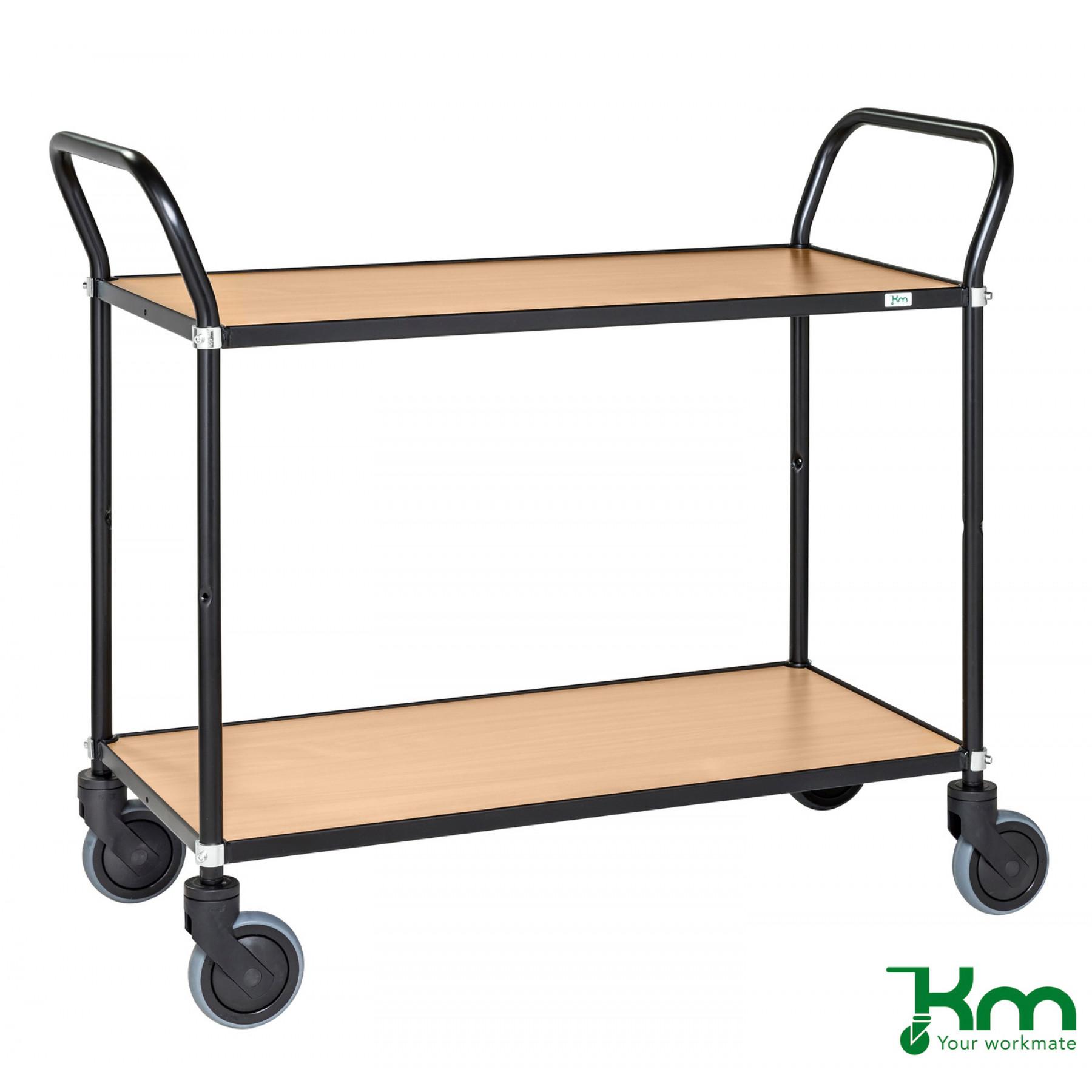 Design tafelwagen met beukenstructuur toplaag, KM 8112-BO