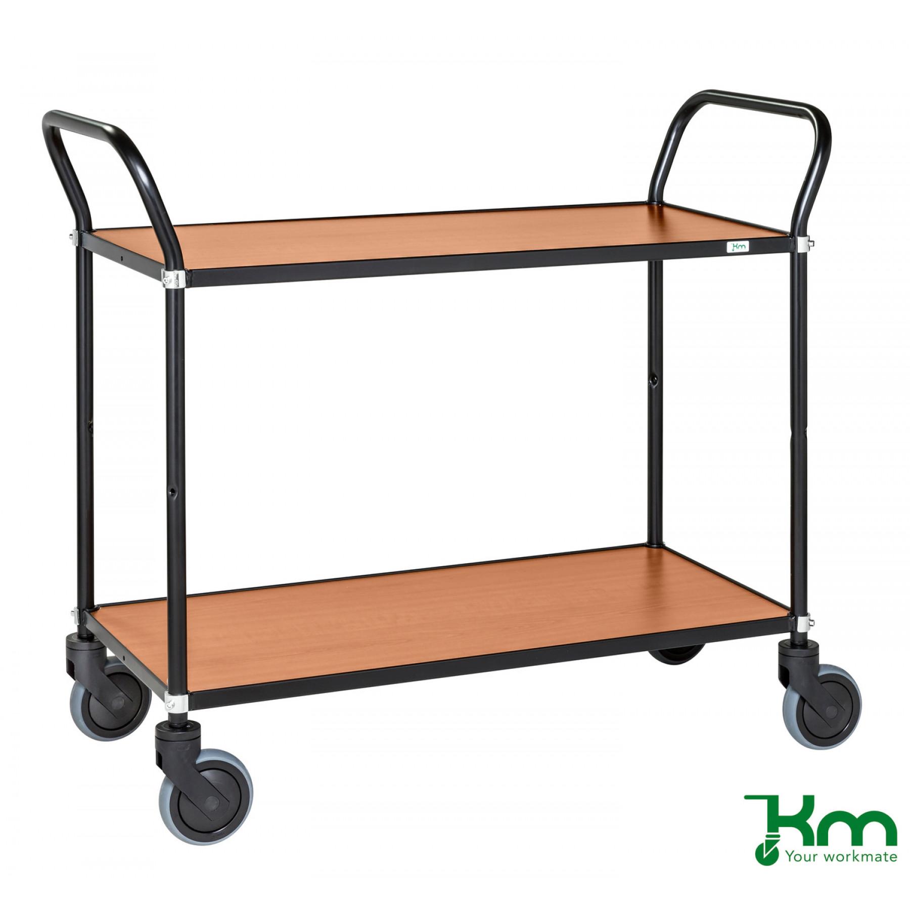 Design tafelwagen met kersenstructuur toplaag, KM 8112-KO
