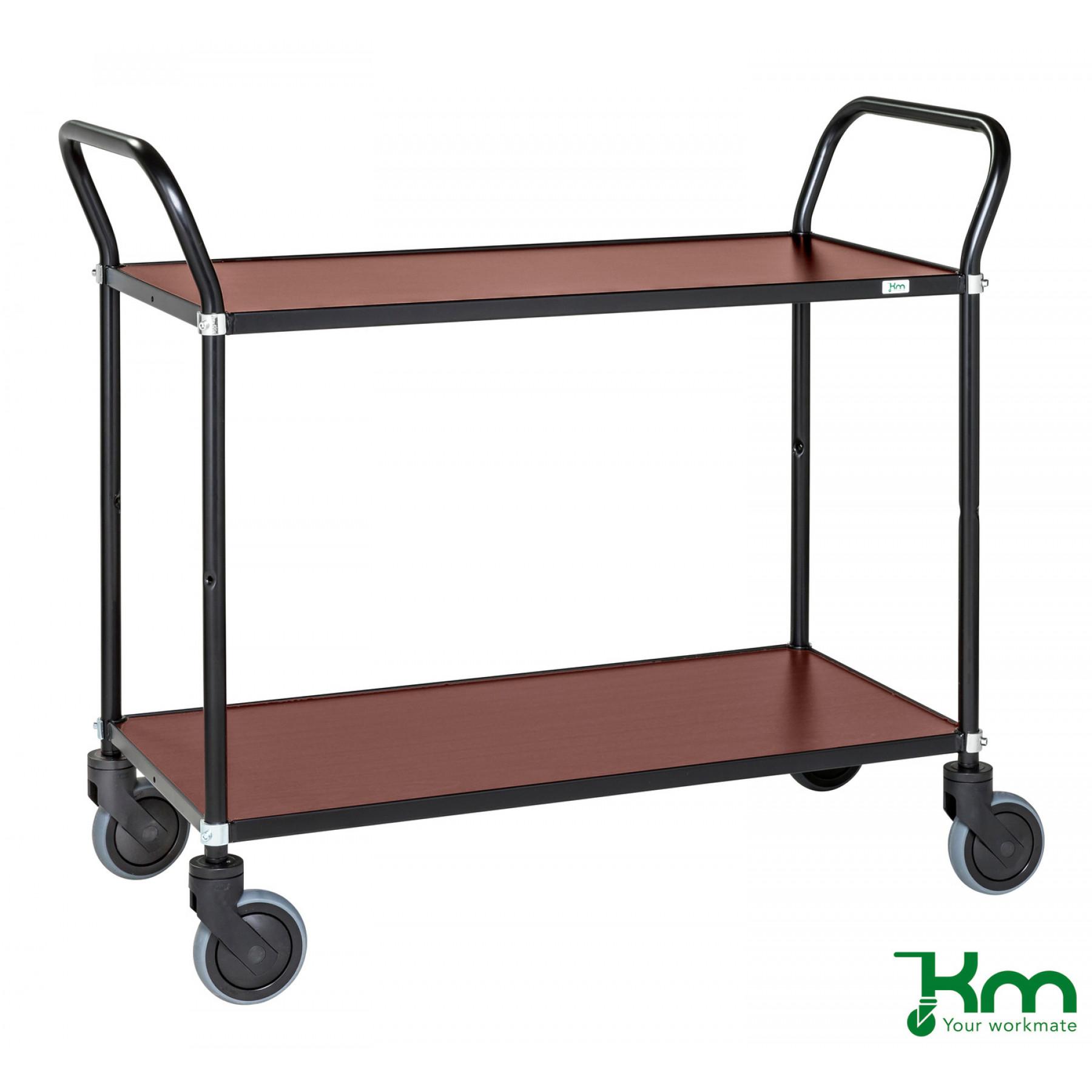 Design tafelwagen met mahoniestructuur toplaag, KM 8112-MA