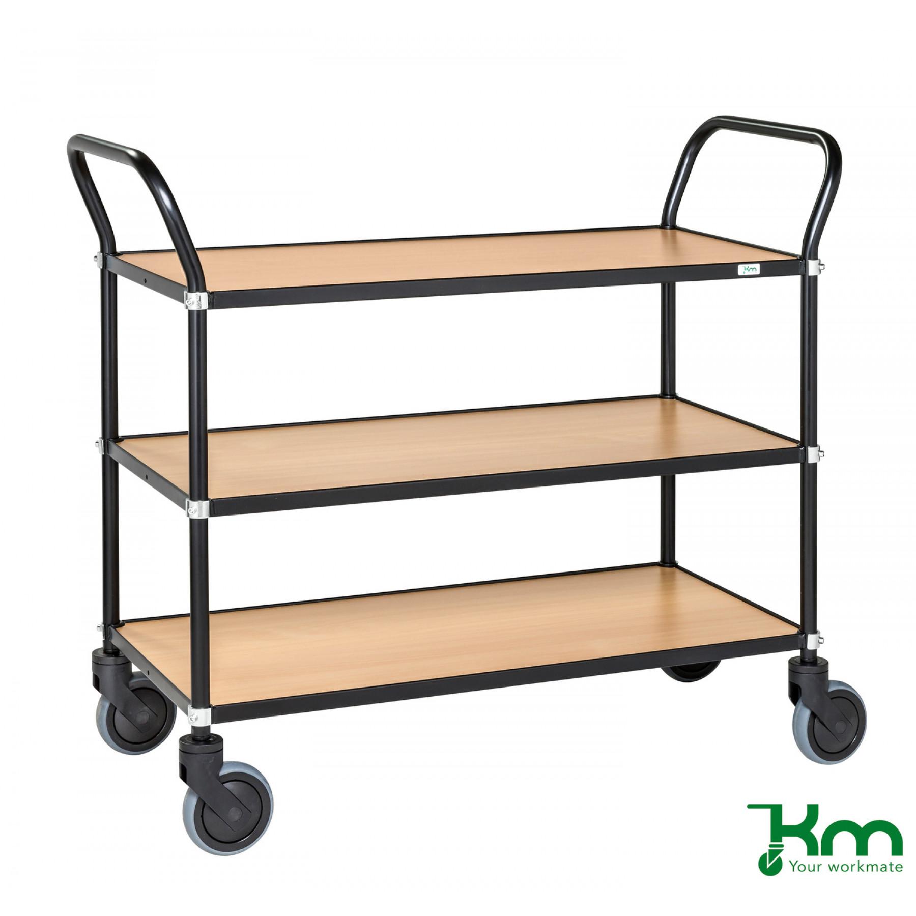 Design tafelwagen met beukenstructuur toplaag, KM 8113-BO