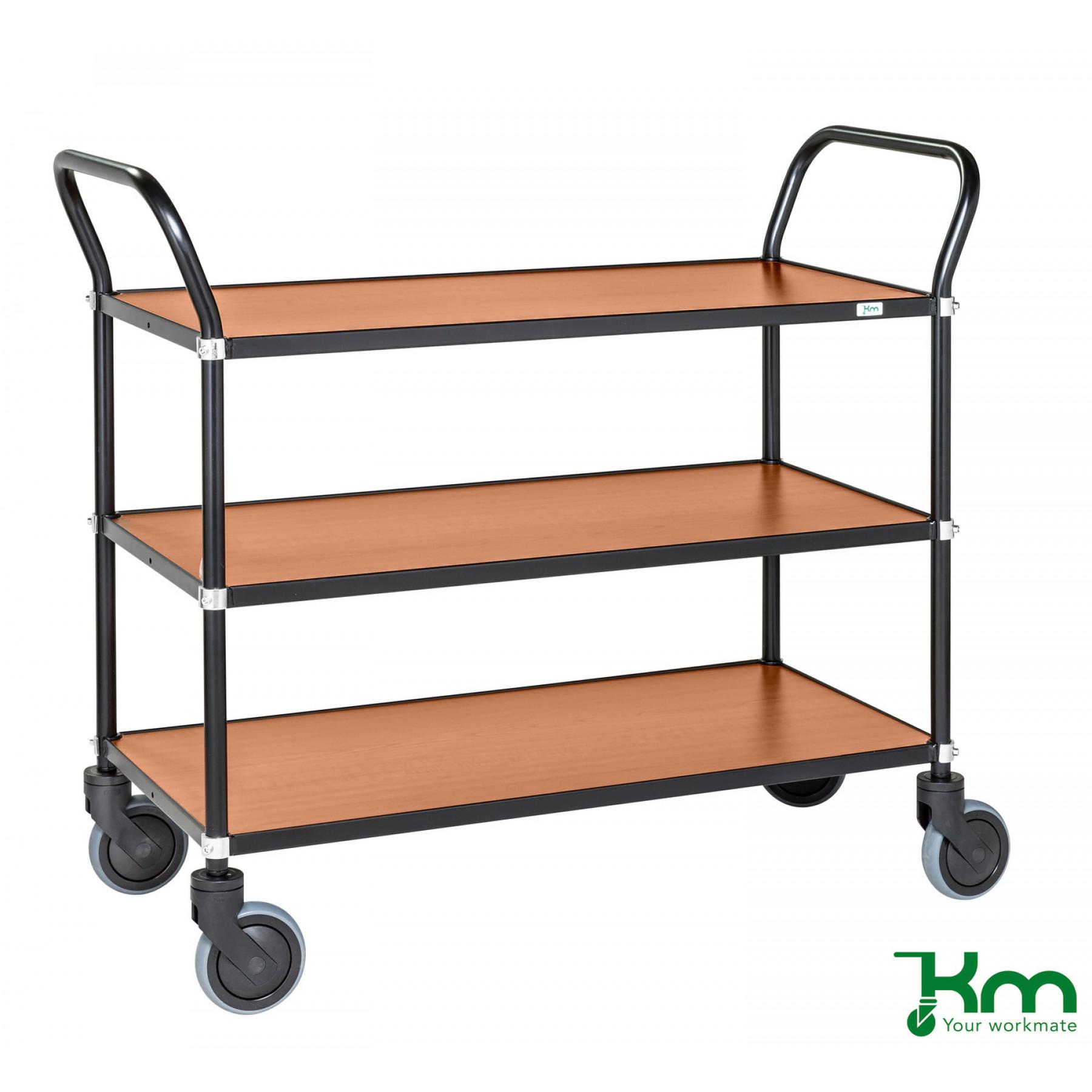 Design tafelwagen met kersenstructuur toplaag, KM 9113-KO