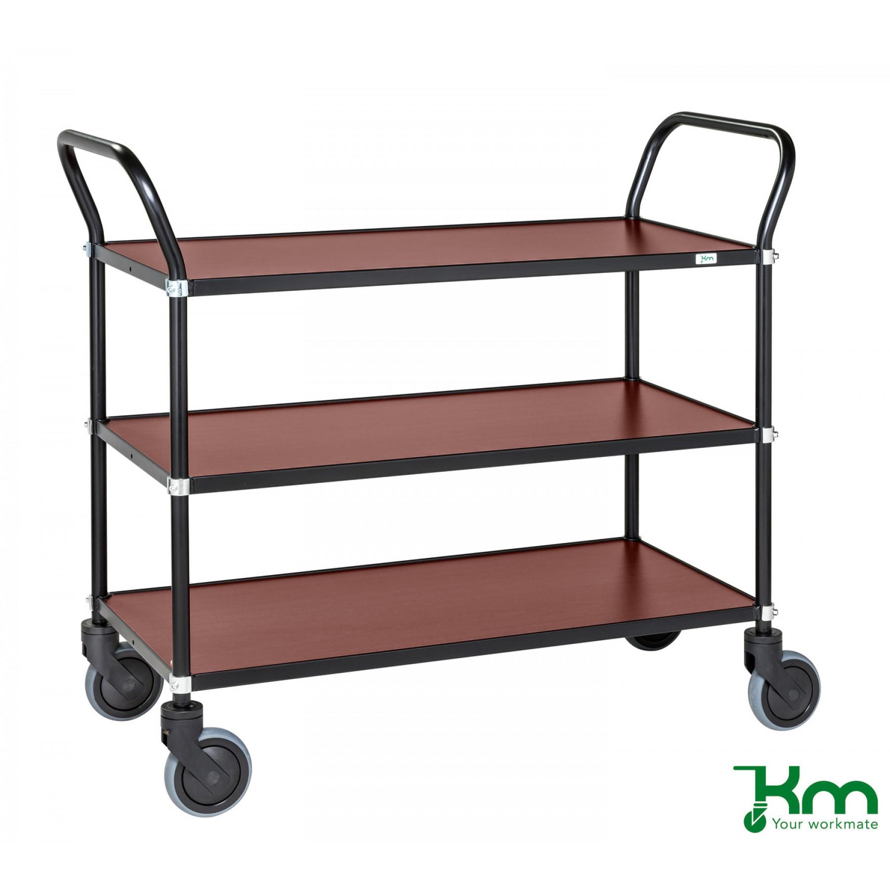 Design tafelwagen met mahoniestructuur toplaag, KM 8113-MA