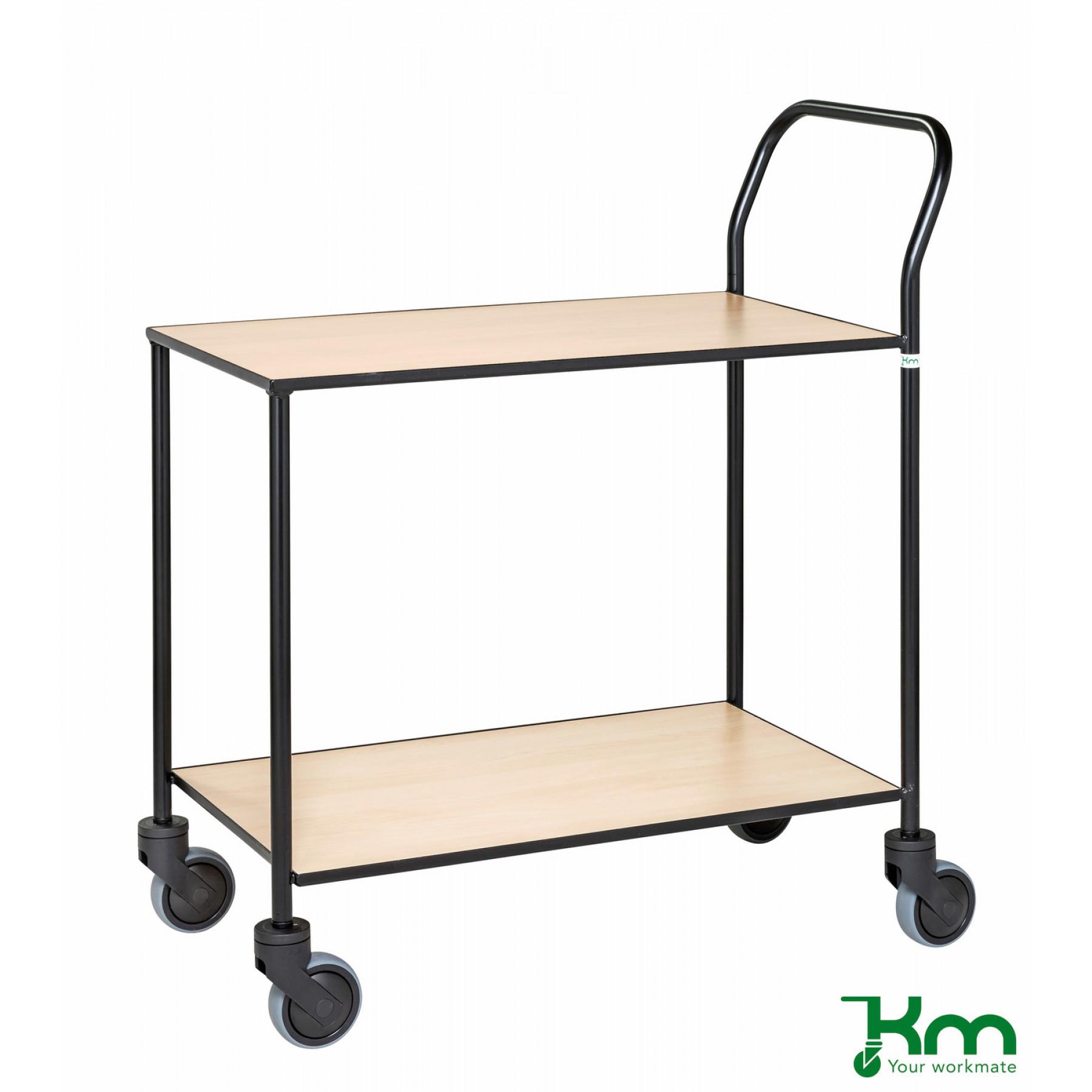 Design tafelwagen met berkenstructuur toplaag, KM 872-BJ