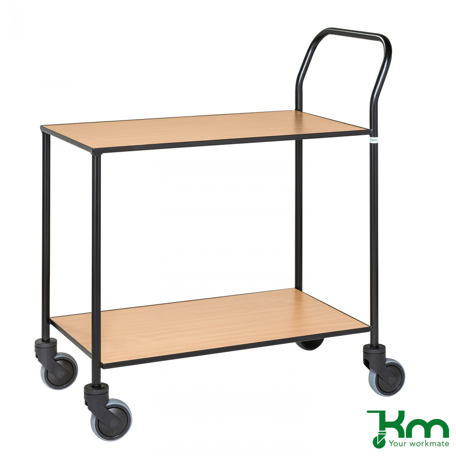 Design tafelwagen met beukenstructuur toplaag, KM 872-BO