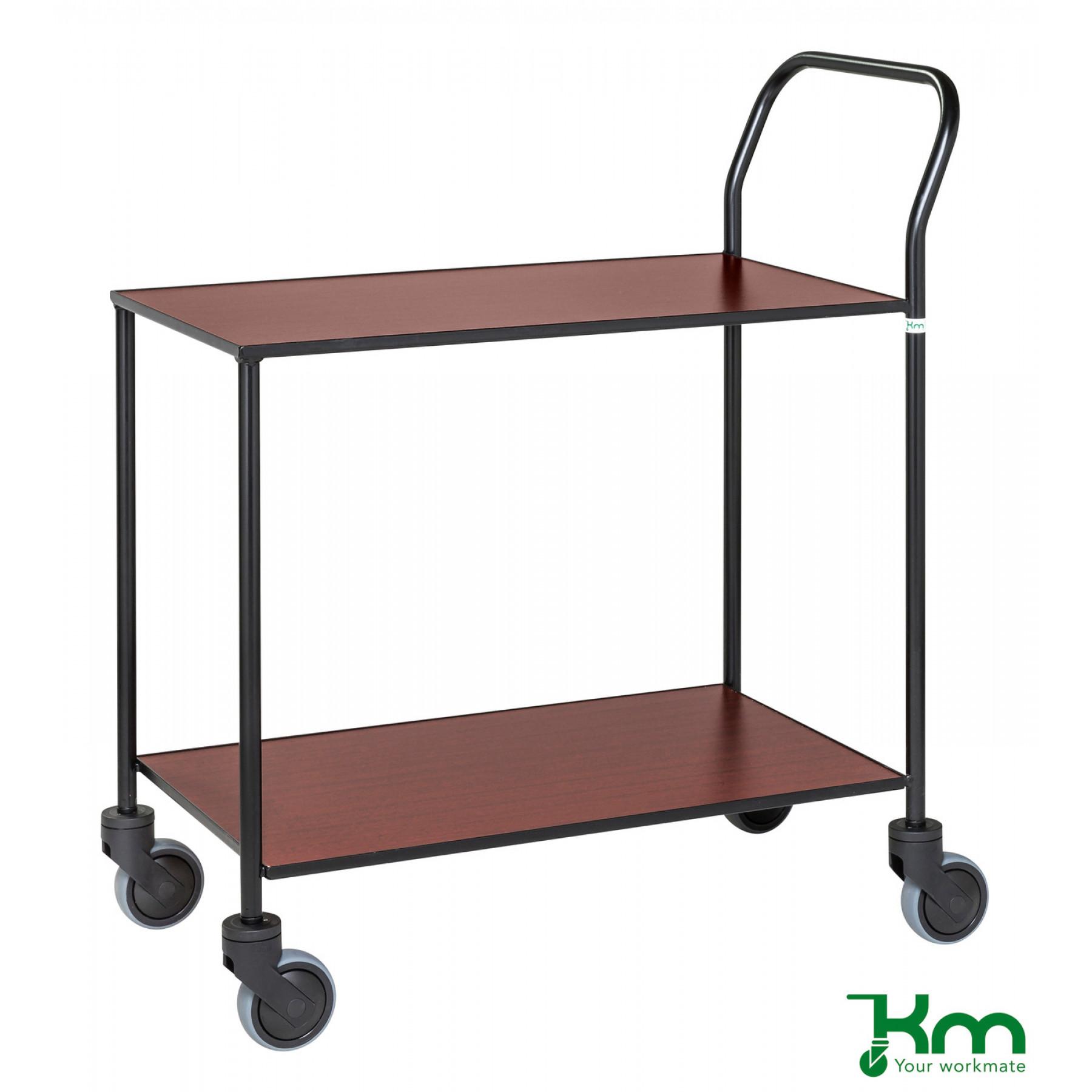 Design tafelwagen met mahoniestructuur toplaag, KM 872-MA