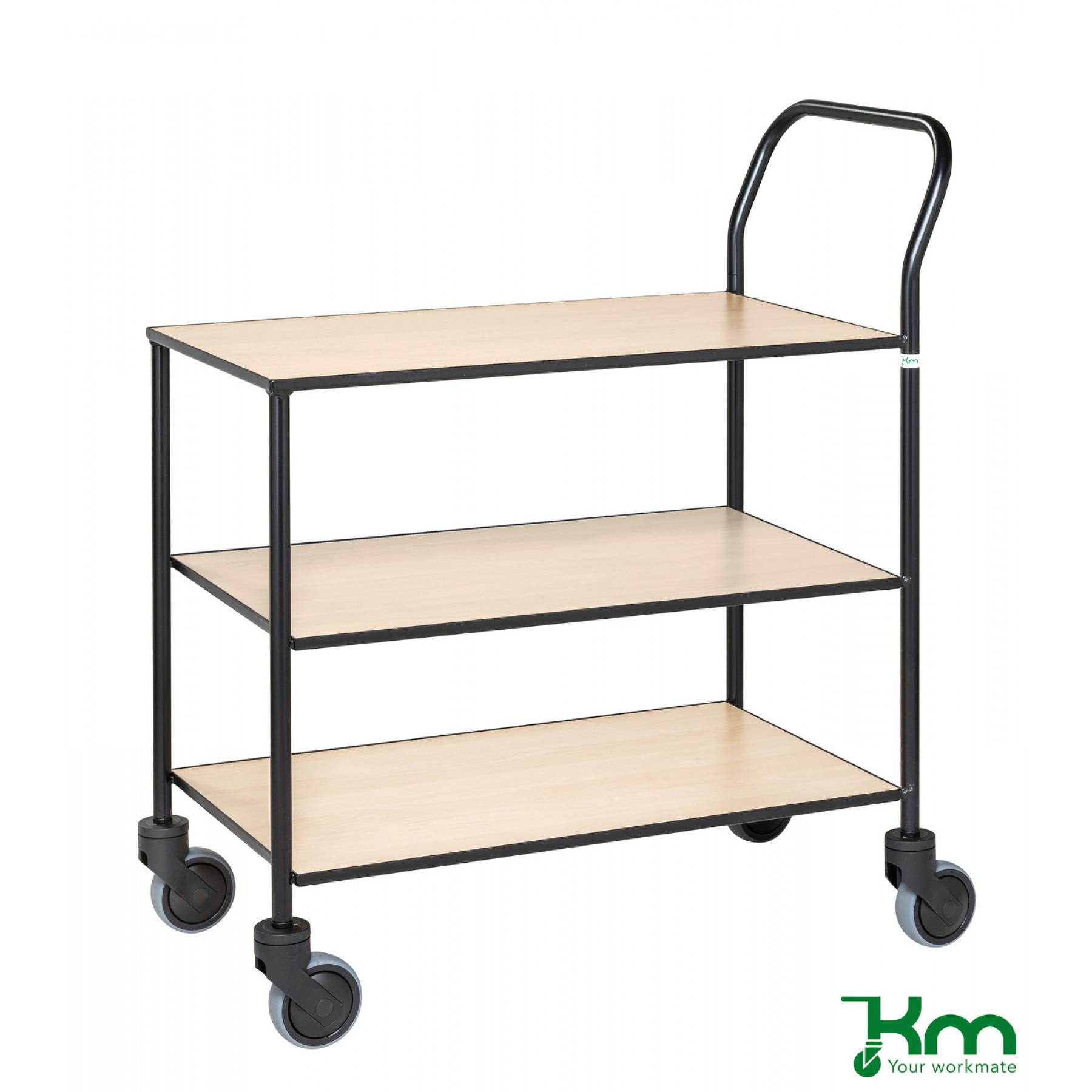 Design tafelwagen met berkenstructuur toplaag, KM 873-BJ