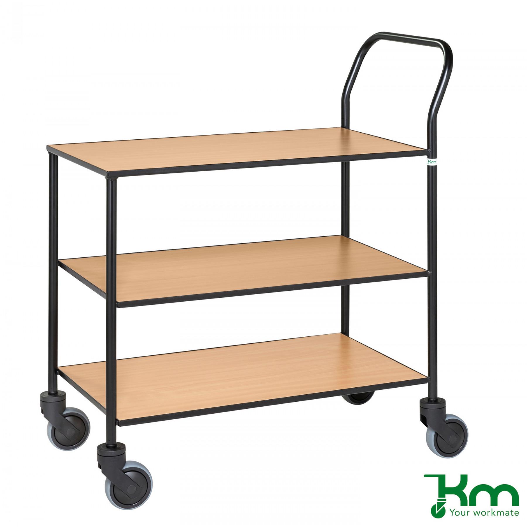 Design tafelwagen met beukenstructuur toplaag, KM 873-BO