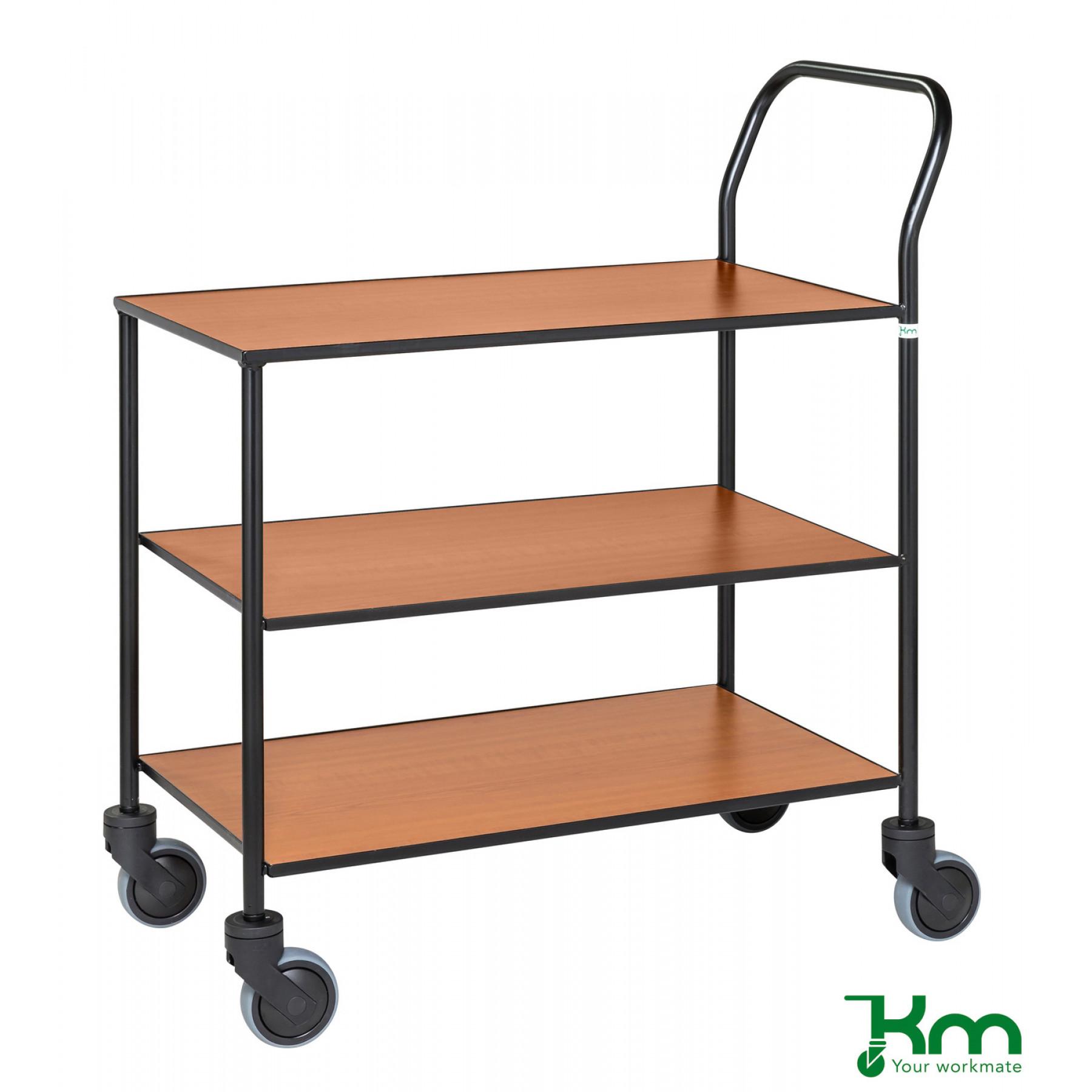 Design tafelwagen met kersenstructuur toplaag, KM 873-KO